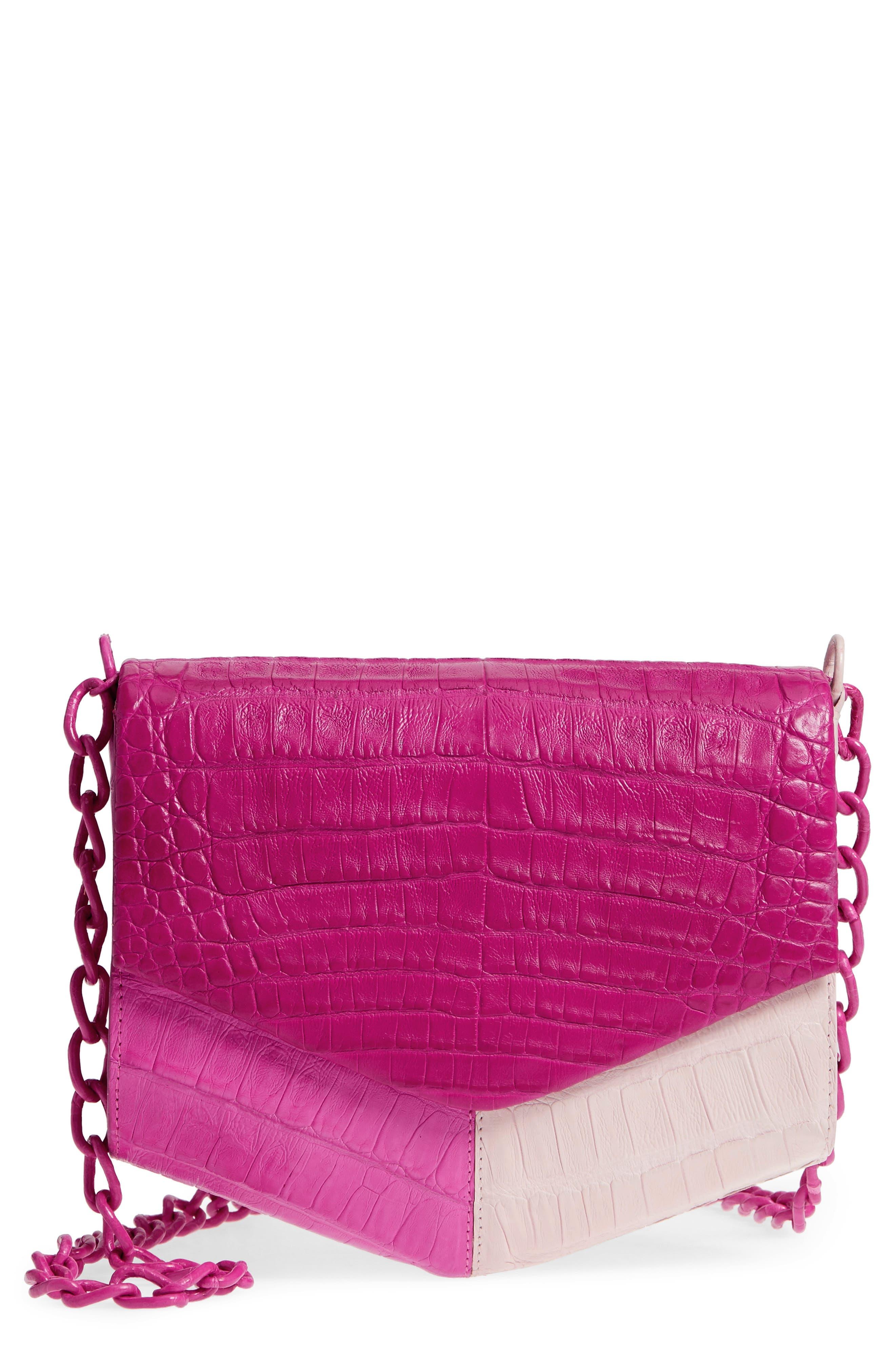 Nancy Gonzalez Colorblock Genuine Crocodile Crossbody Bag