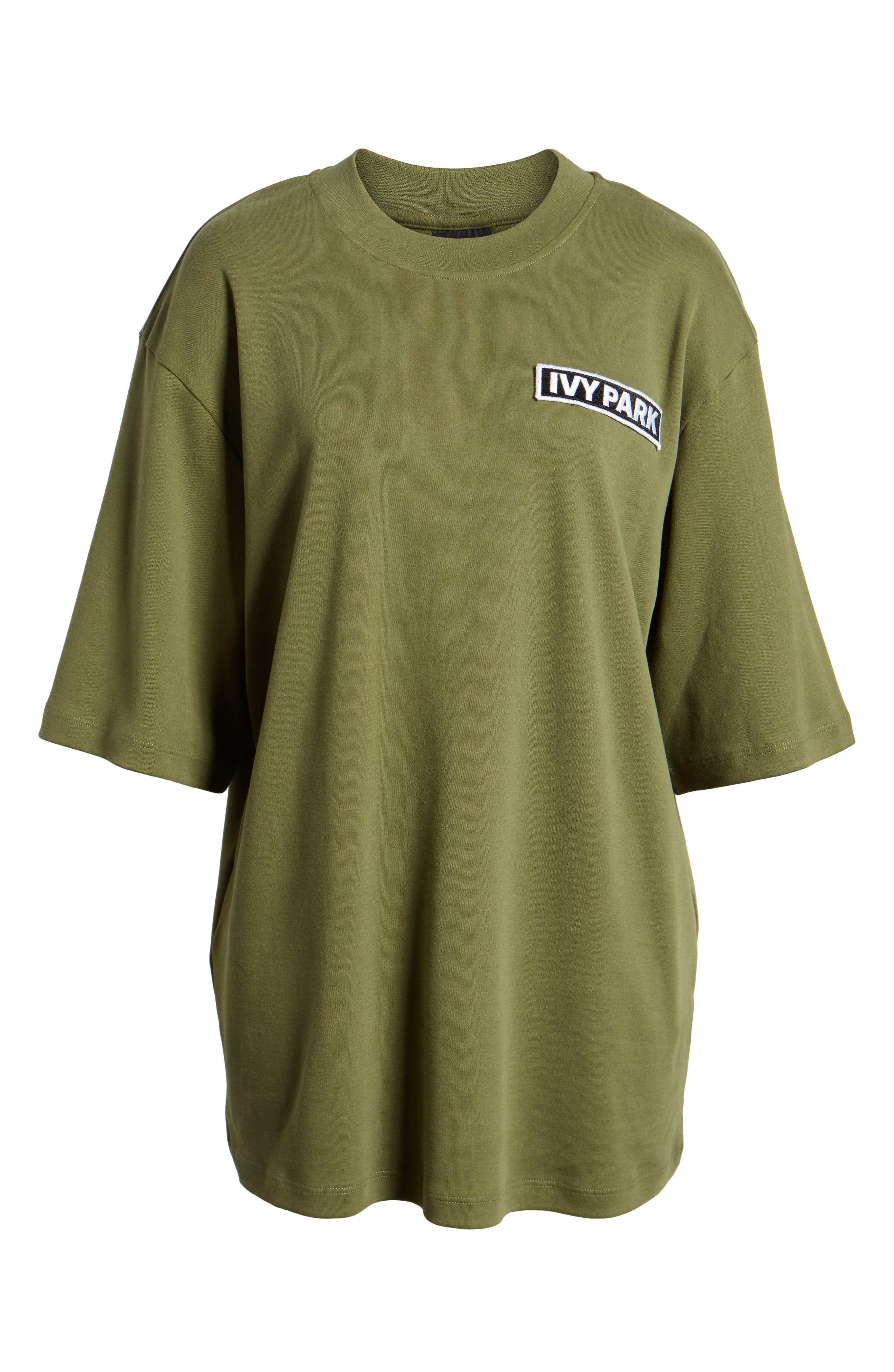 Oversize Logo Patch Tee,                             Alternate thumbnail 7, color,                             Moss