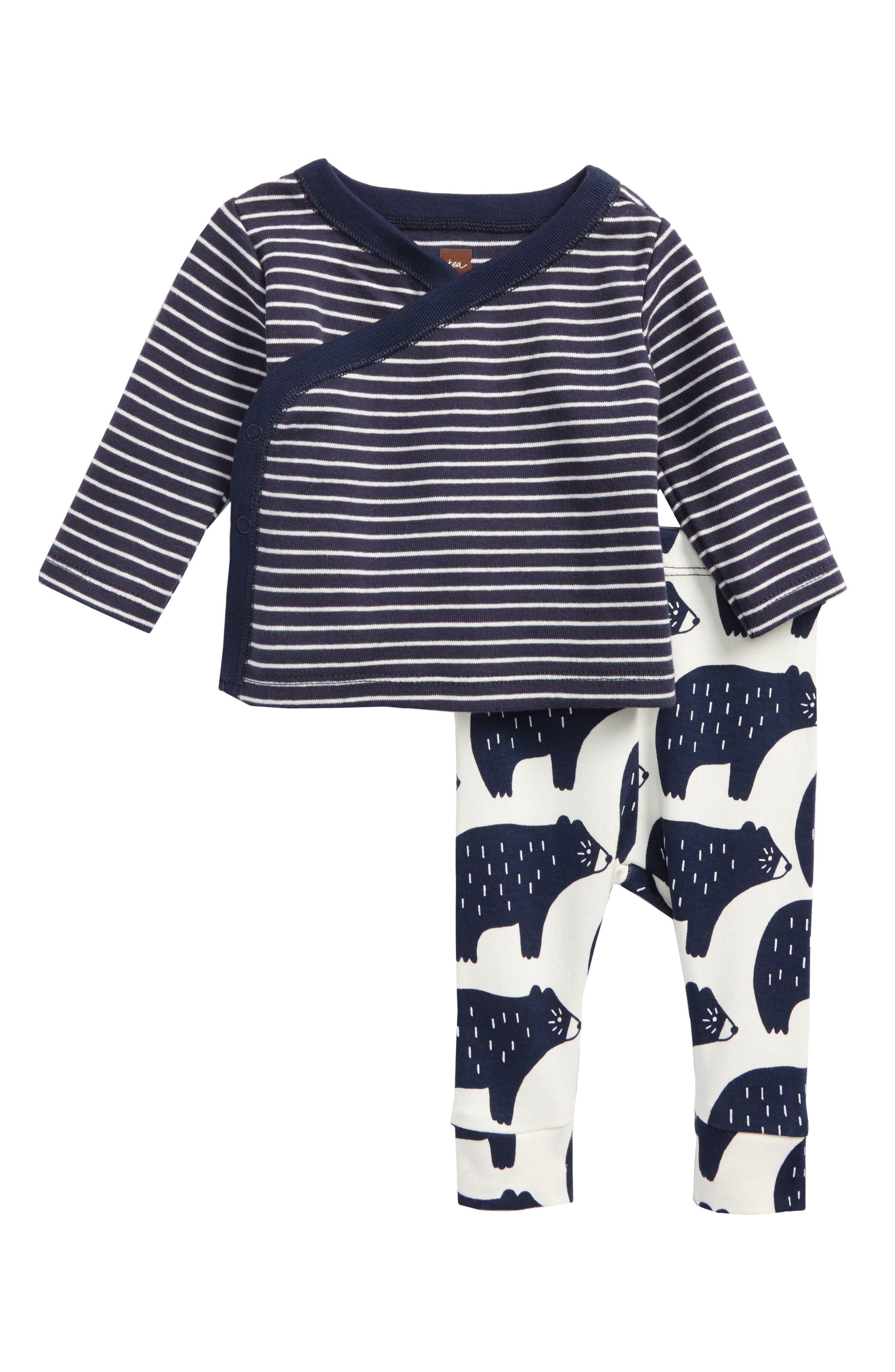 Main Image - Tea Collection Wrap Tunic & Pants Set (Baby Boys)