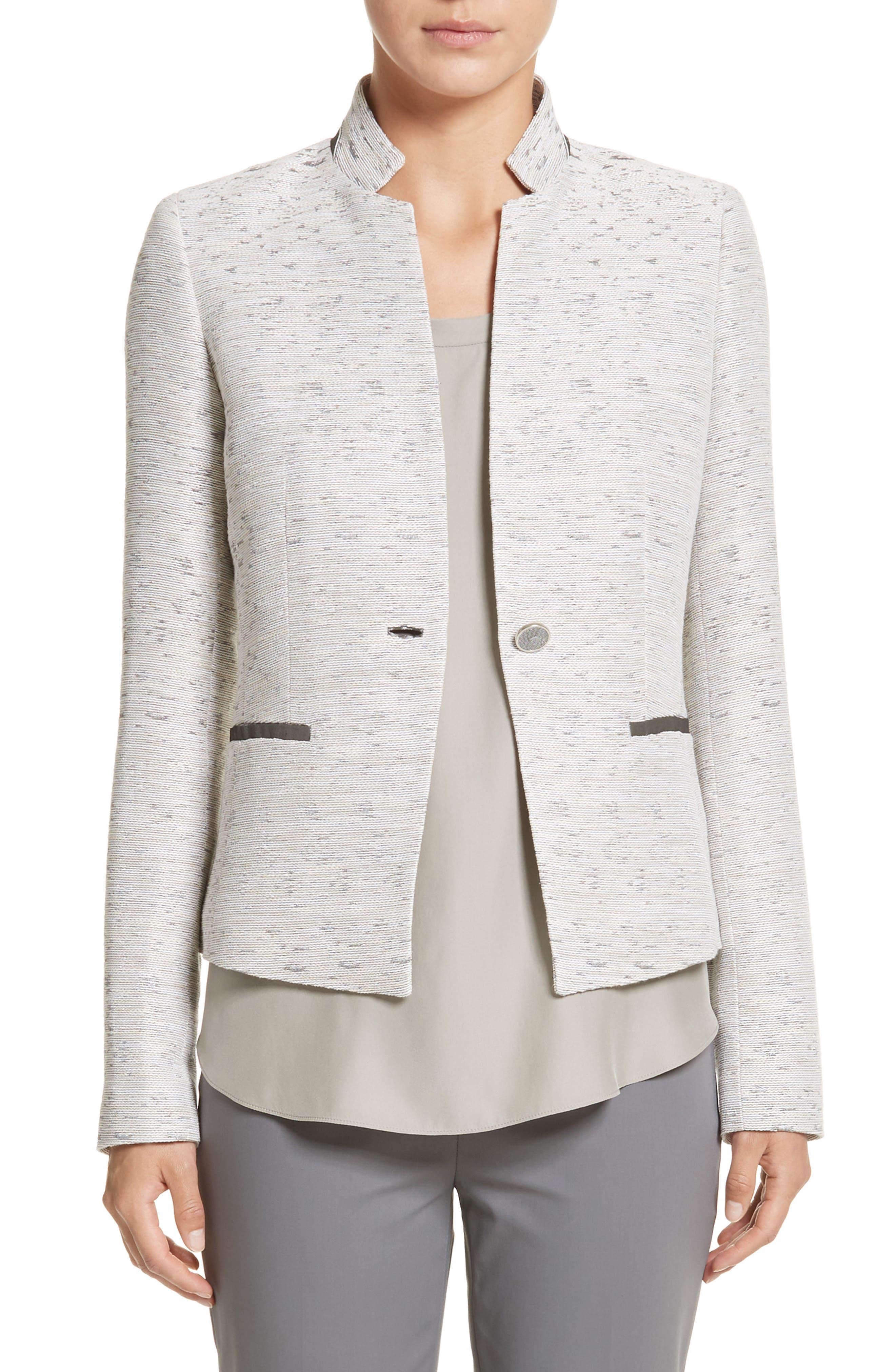 Zanna Metallic Knit Blazer,                         Main,                         color, Raffia Multi