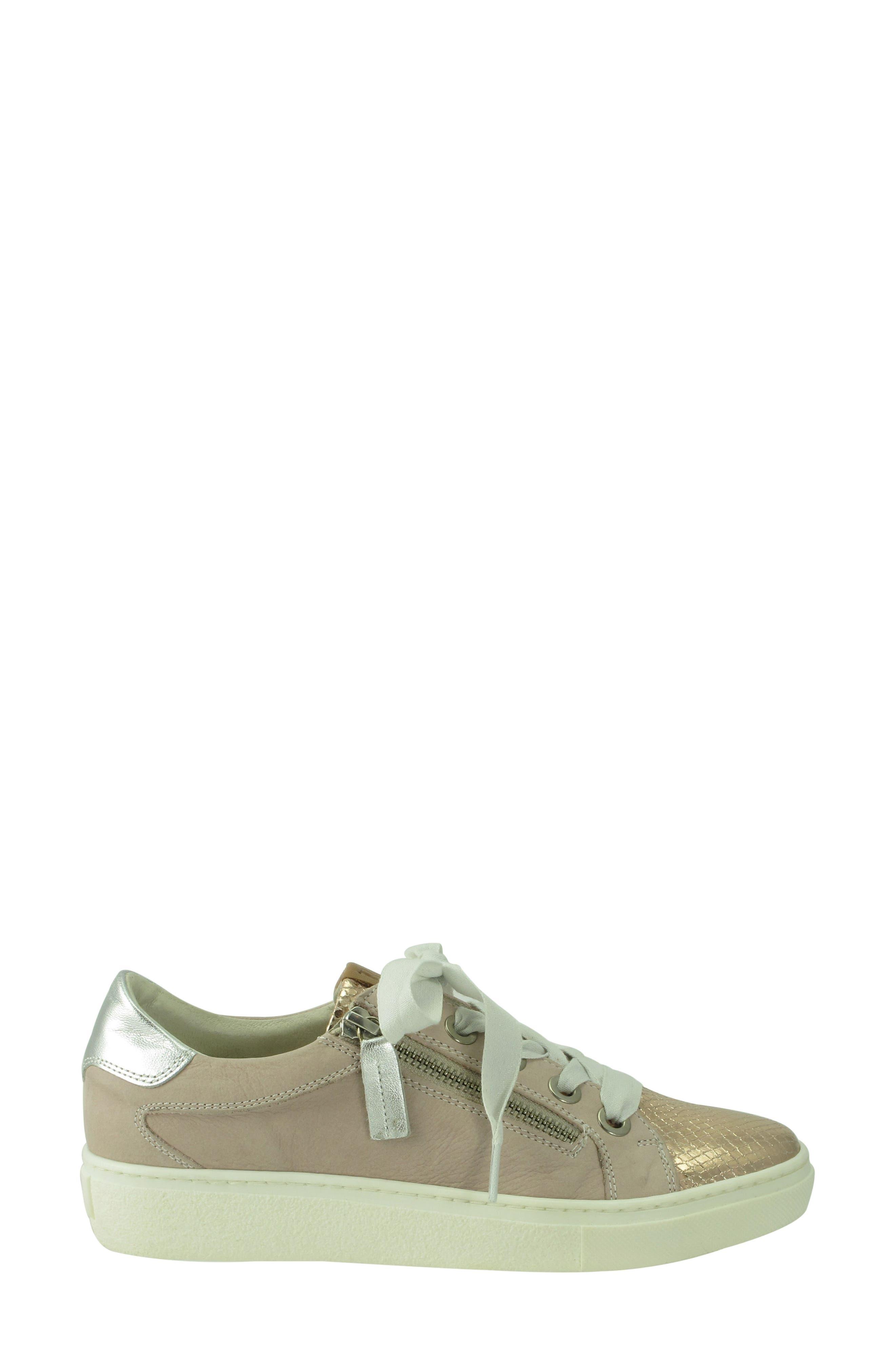 Orabella Weatherproof Sneaker,                             Alternate thumbnail 3, color,                             Blush Nubuck