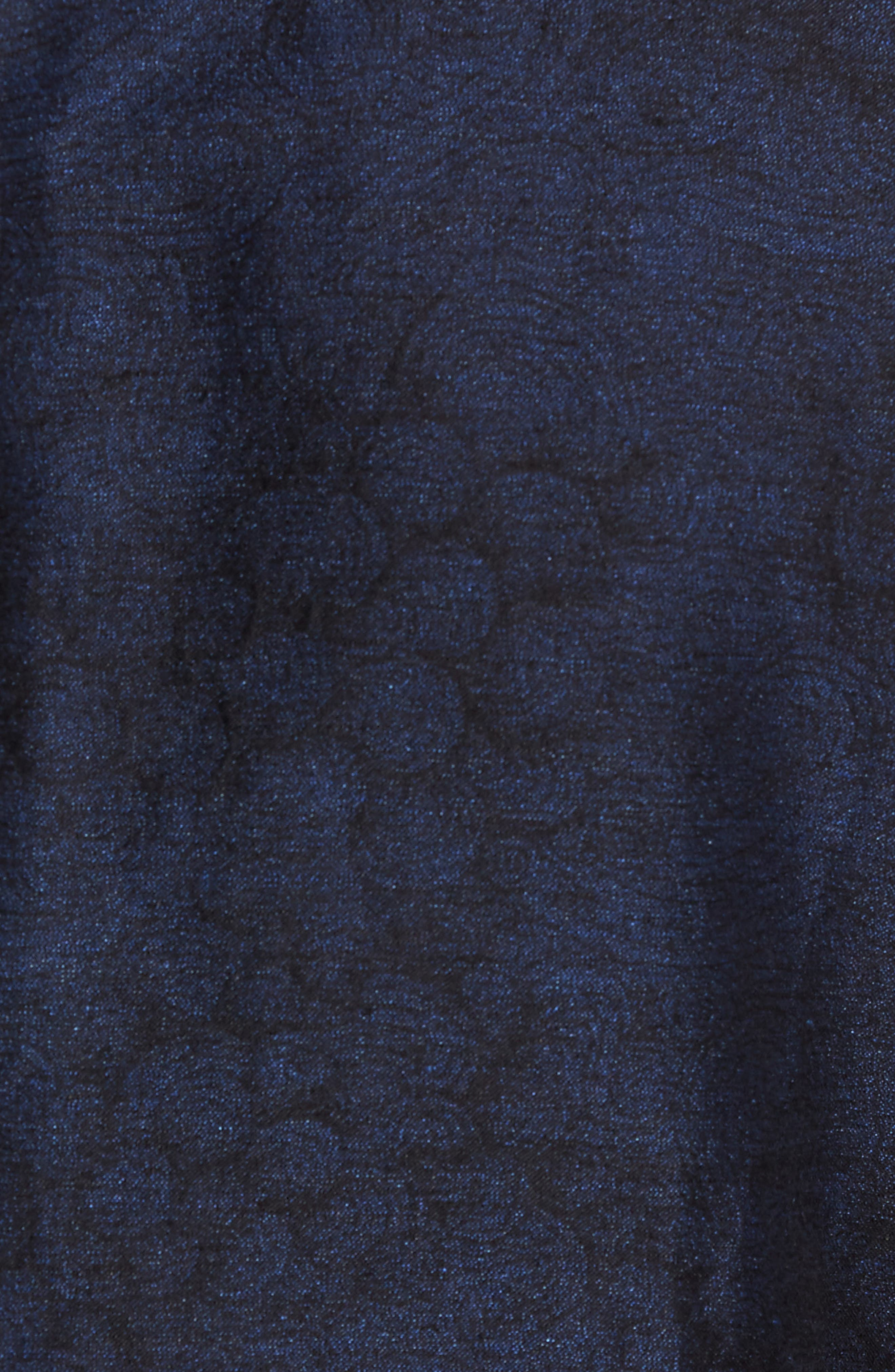 Slim Fit Patterned Linen Blend Sport Coat,                             Alternate thumbnail 5, color,                             Indigo Blue