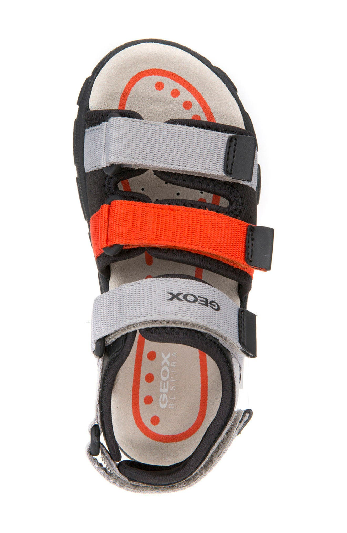 Strada Sandal,                             Alternate thumbnail 4, color,                             Grey/ Orange