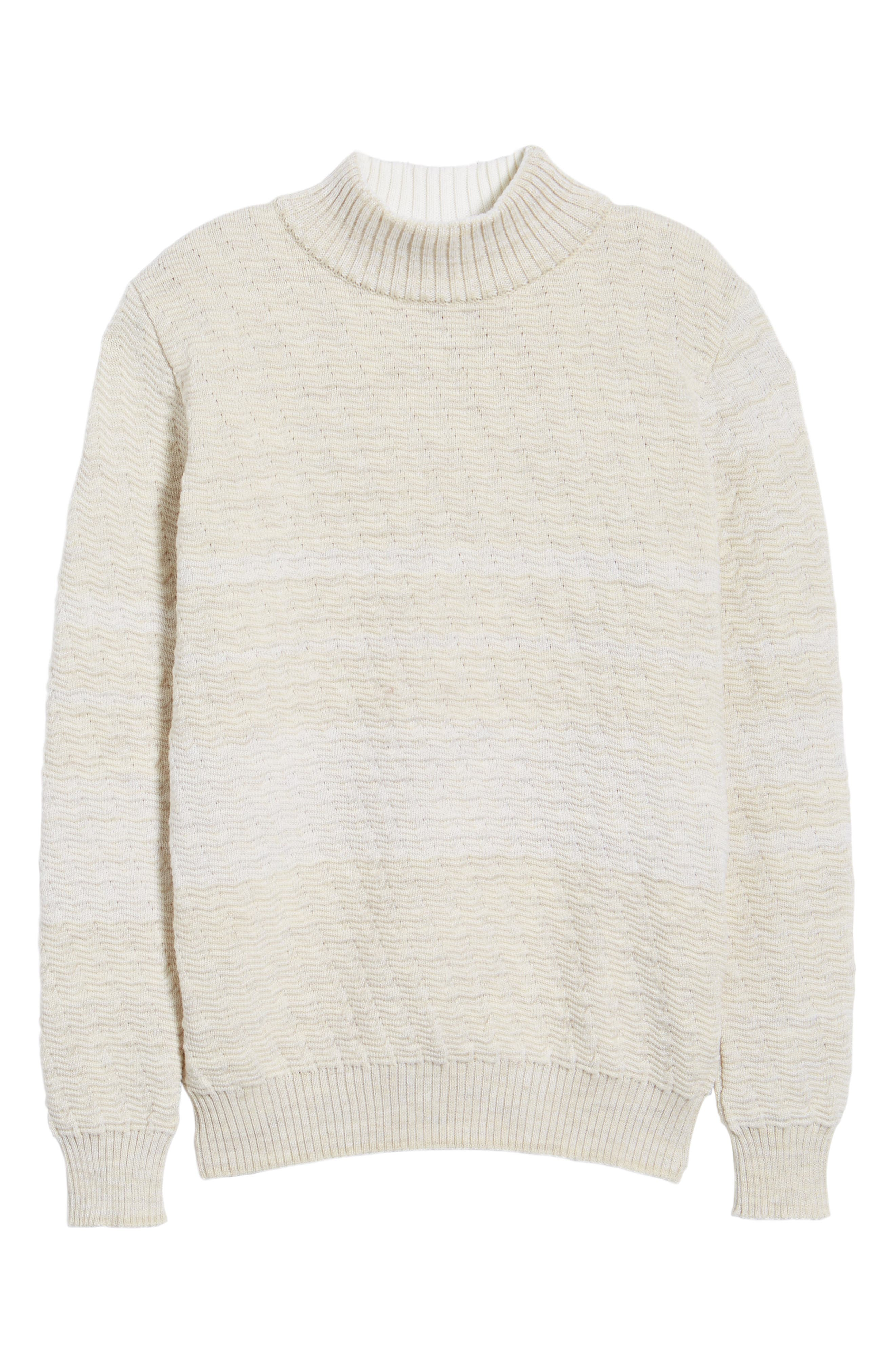 Evident Wool Turtleneck Sweater,                             Alternate thumbnail 6, color,                             Raw