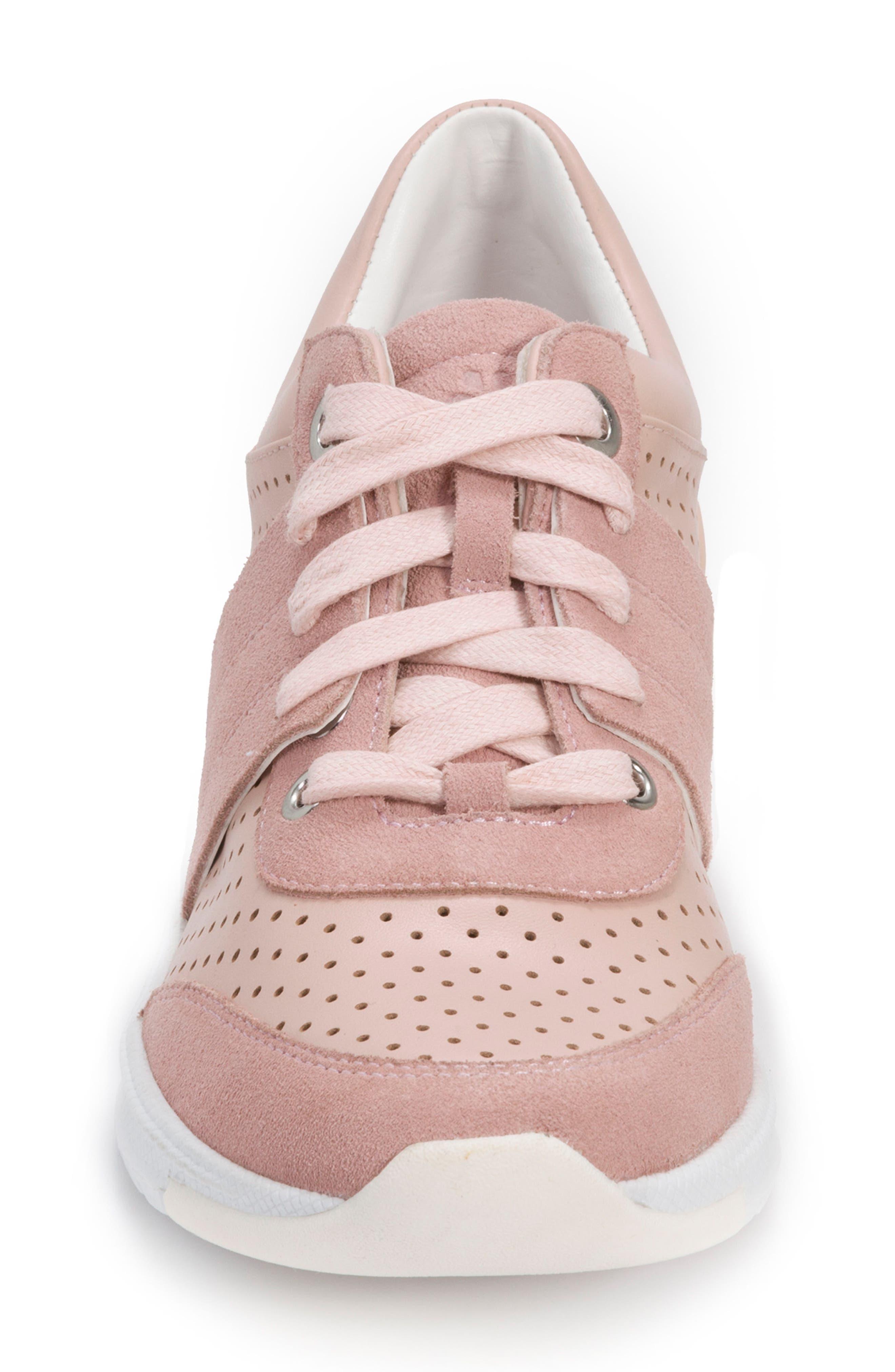 Bea Sneaker,                             Alternate thumbnail 4, color,                             Blush Leather