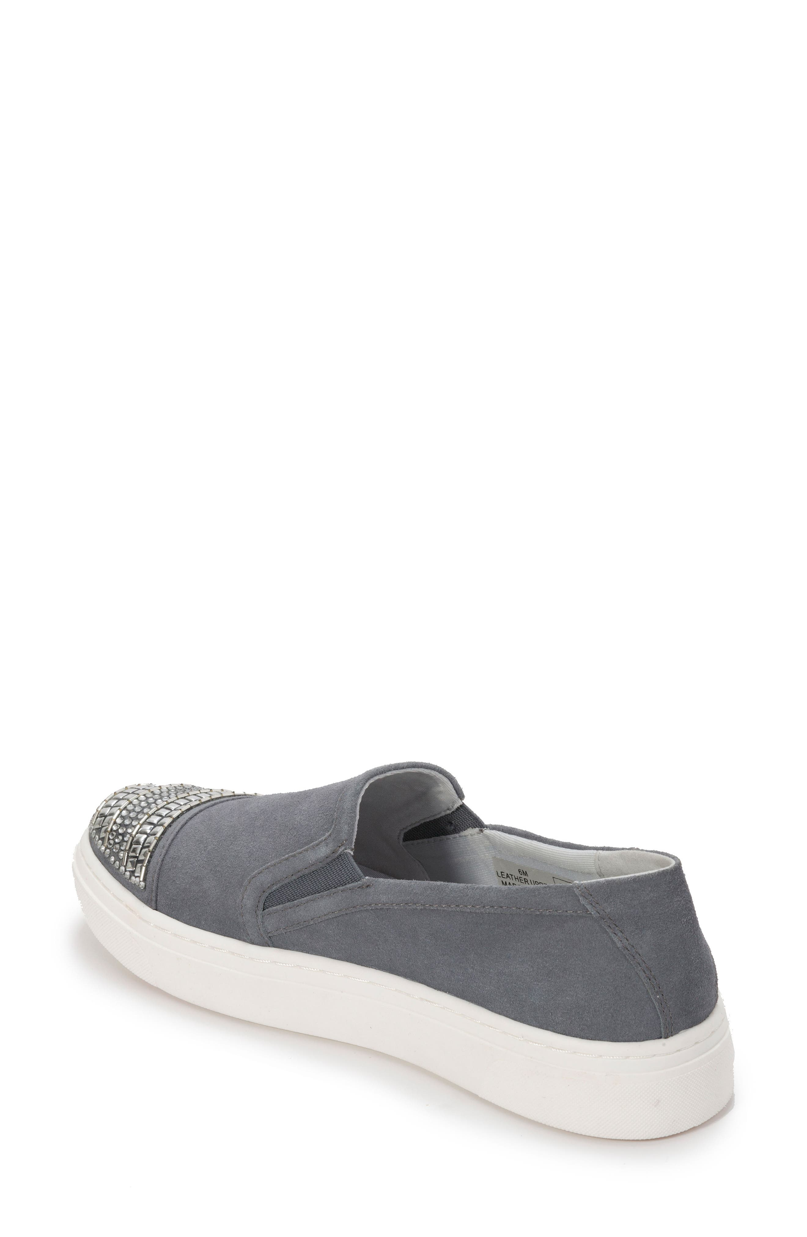 Finley Slip-On Sneaker,                             Alternate thumbnail 2, color,                             Denim Blue Suede