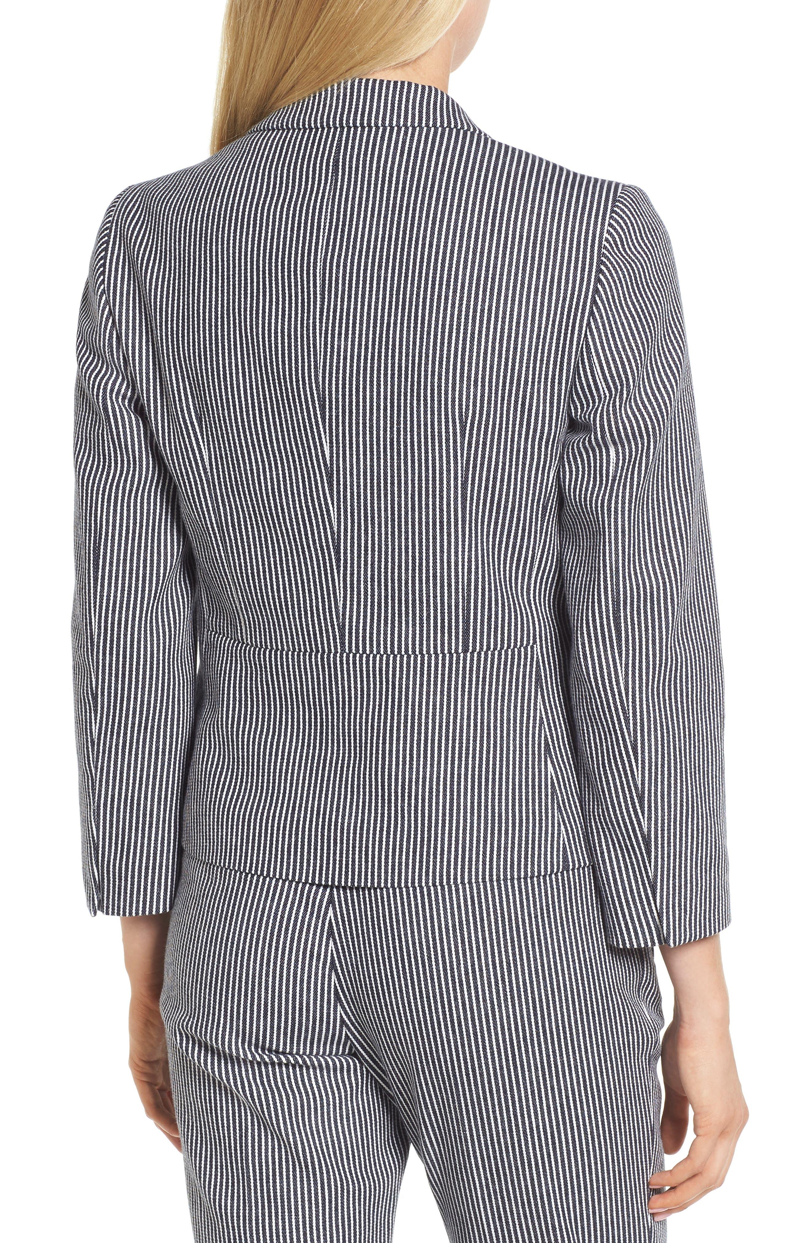Katemika Stripe Stretch Cotton Suit Jacket,                             Alternate thumbnail 2, color,                             Navy Fantasy