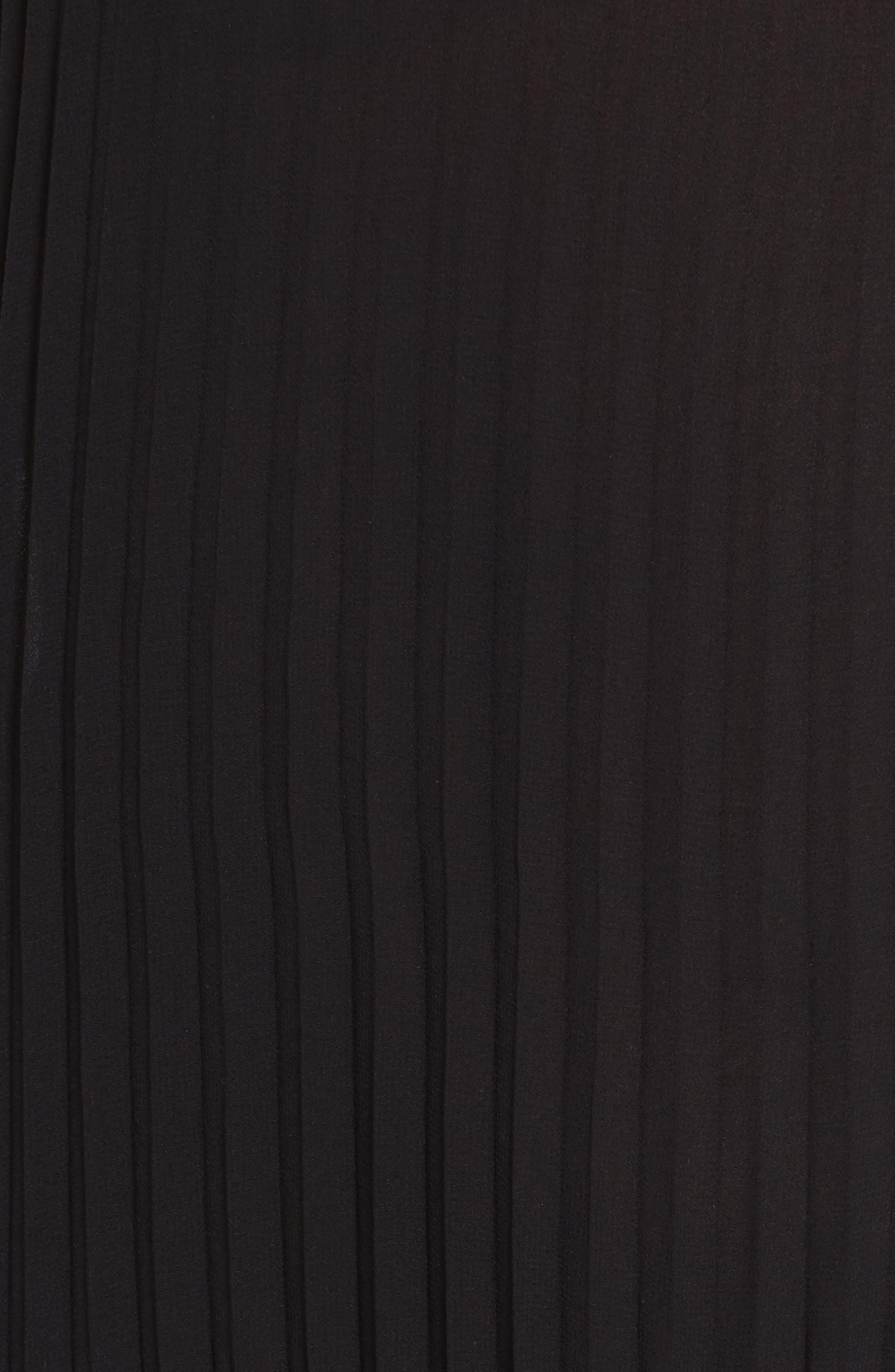 Chiffon Maxi Dress,                             Alternate thumbnail 5, color,                             Black