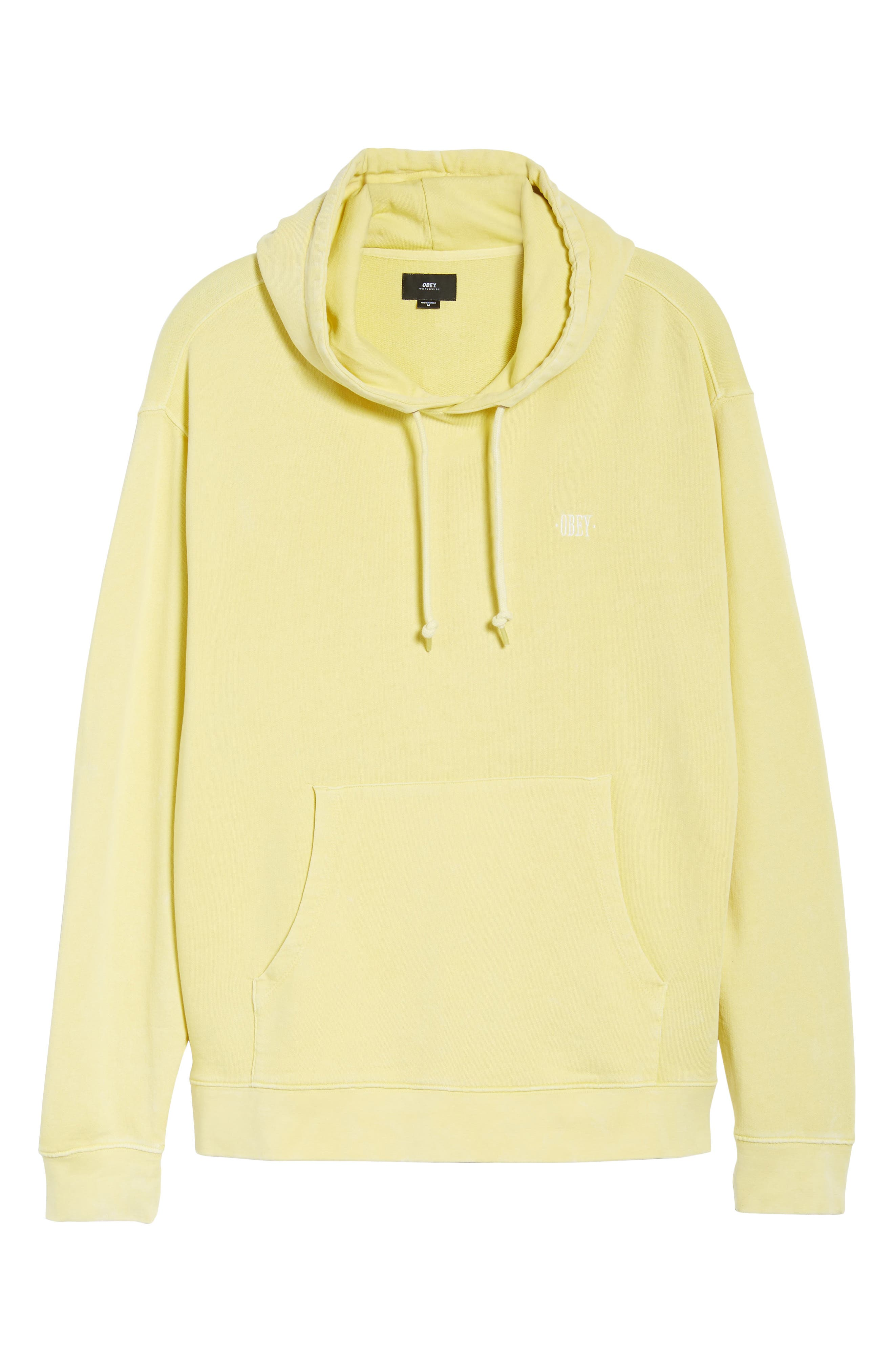 Faded Pigment Dyed Hoodie Sweatshirt,                             Alternate thumbnail 6, color,                             Yellow