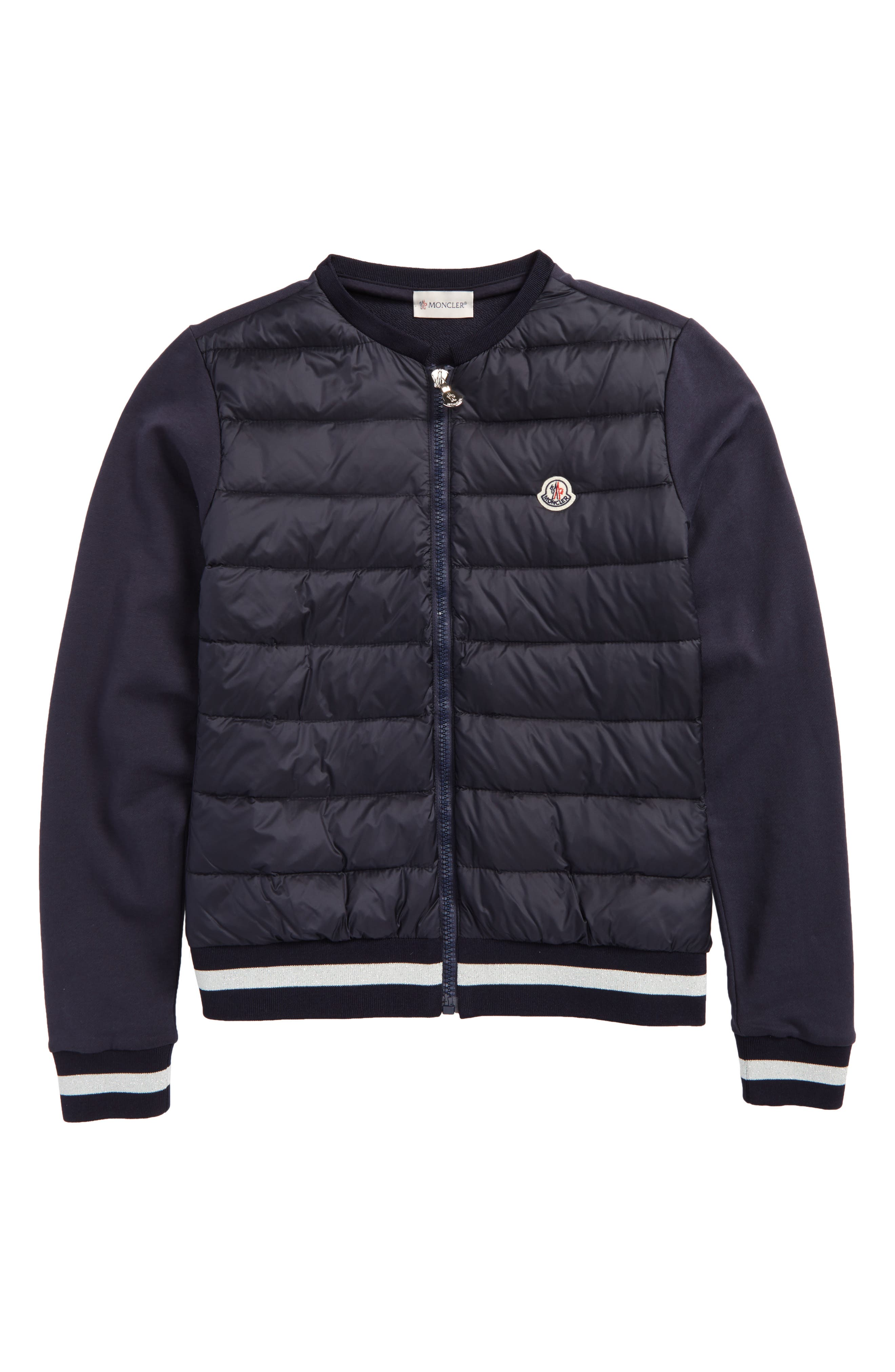 Quilted Nylon Jacket,                         Main,                         color, Navy