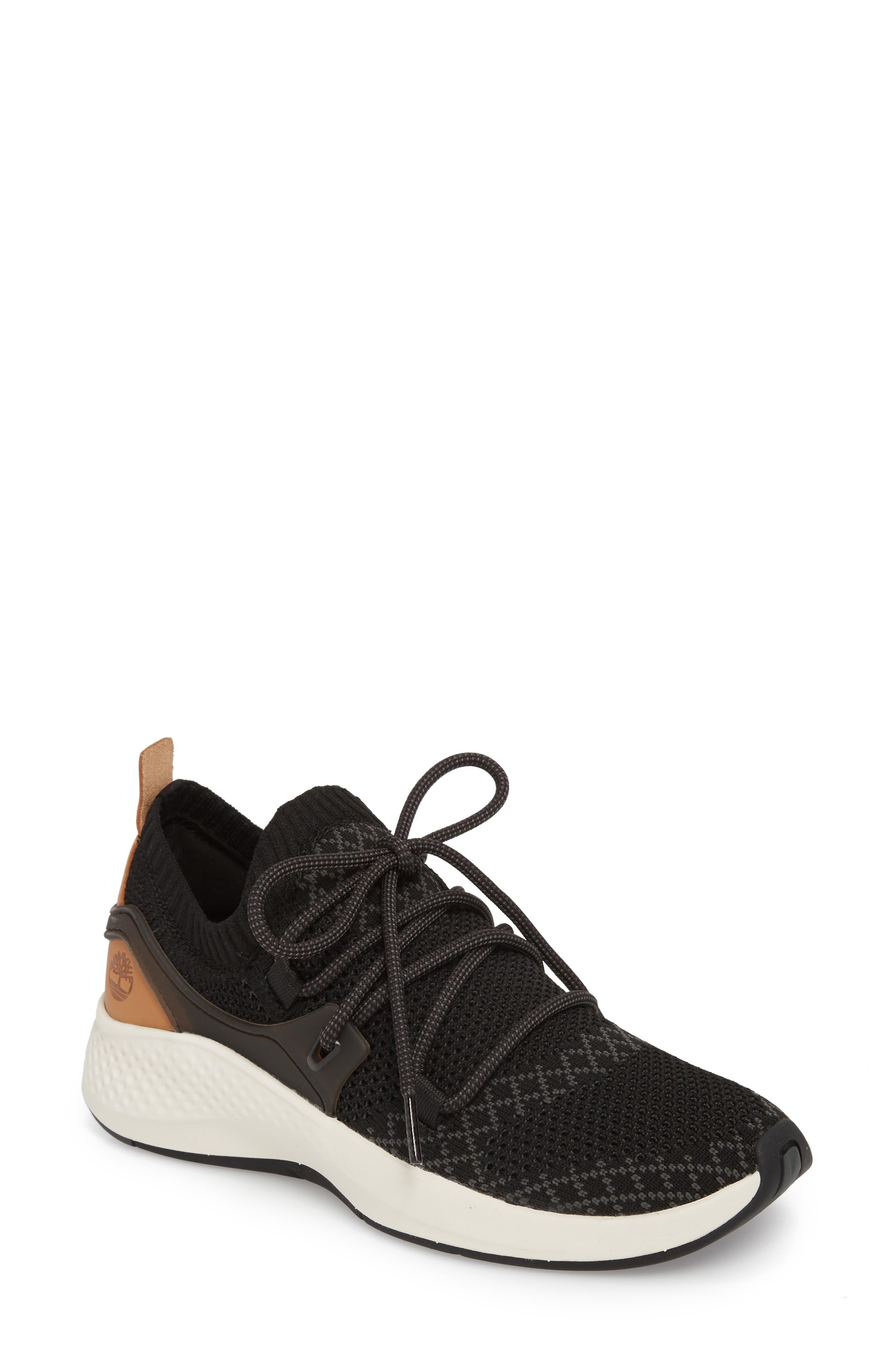 FlyRoam Go Knit Sneaker,                             Main thumbnail 1, color,                             Black Fabric