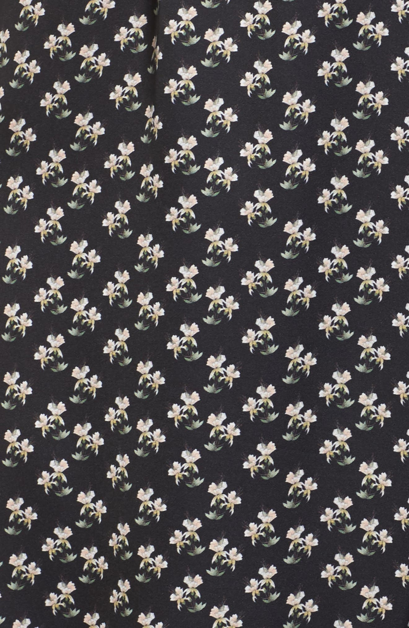 One-Shoulder Ruffle Gown,                             Alternate thumbnail 5, color,                             Kiera Print