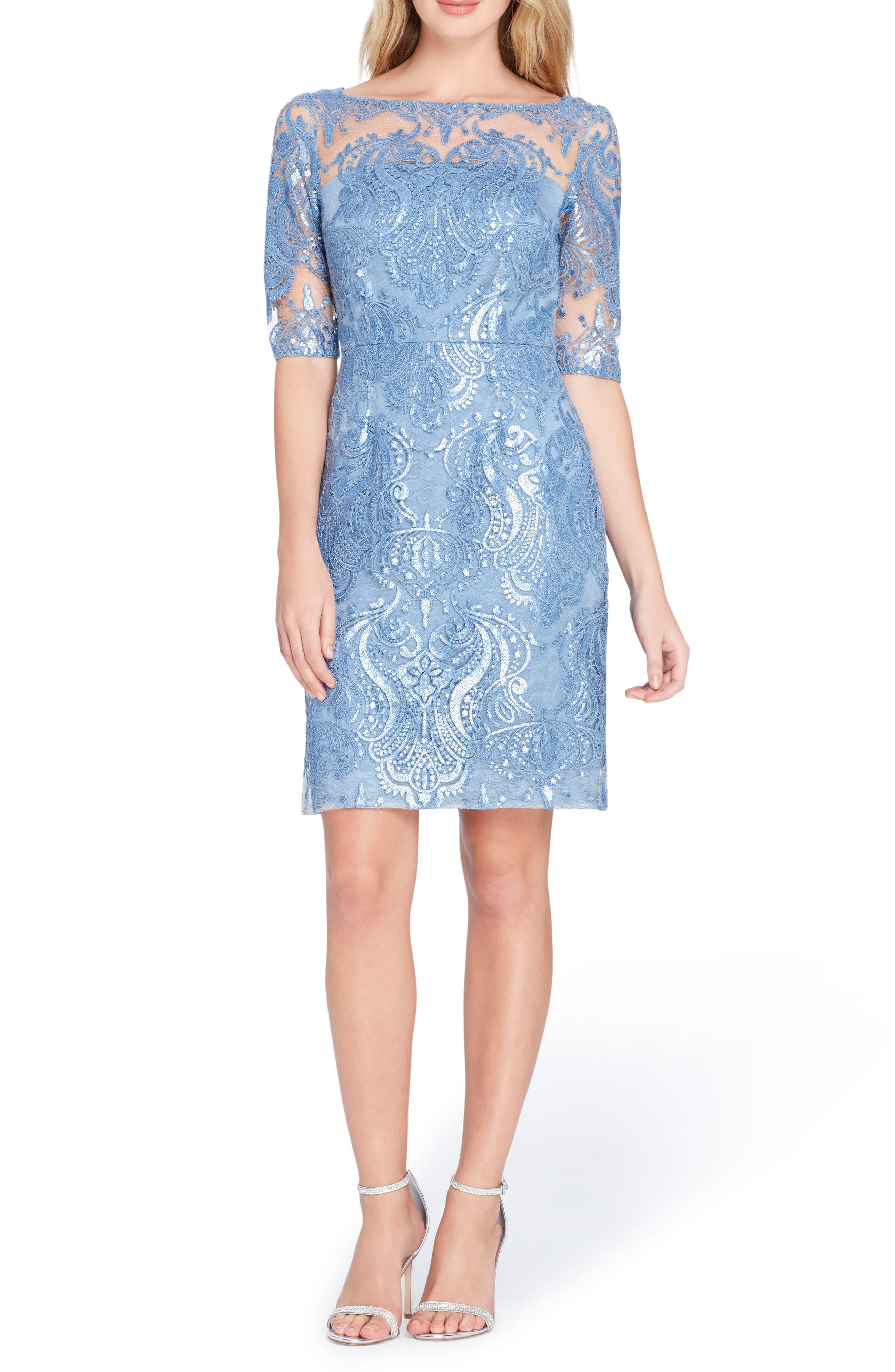 Sequin Sheath Dress,                         Main,                         color, Periwinkle