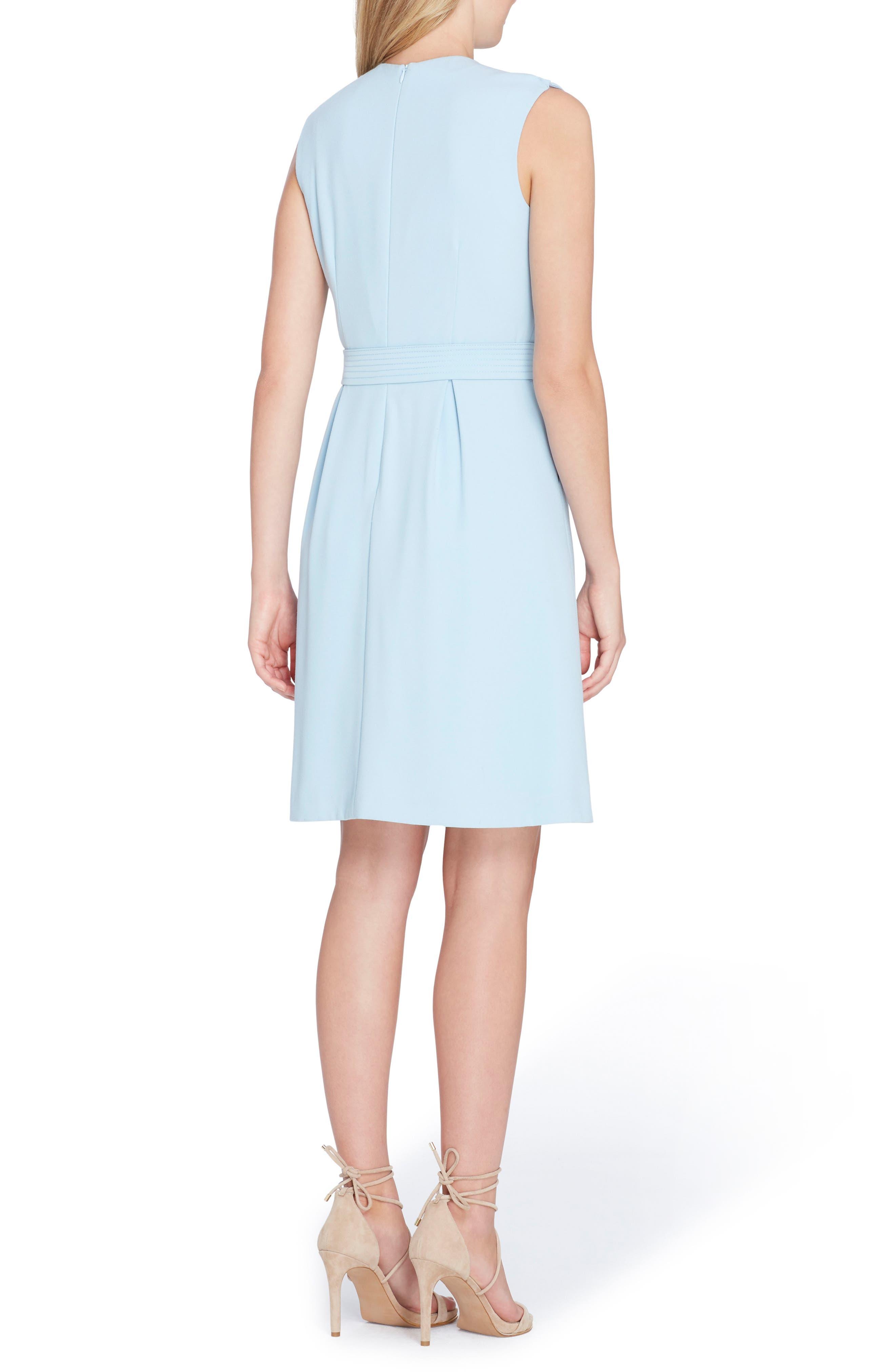 Faux Wrap Dress,                             Alternate thumbnail 2, color,                             Sky Blue