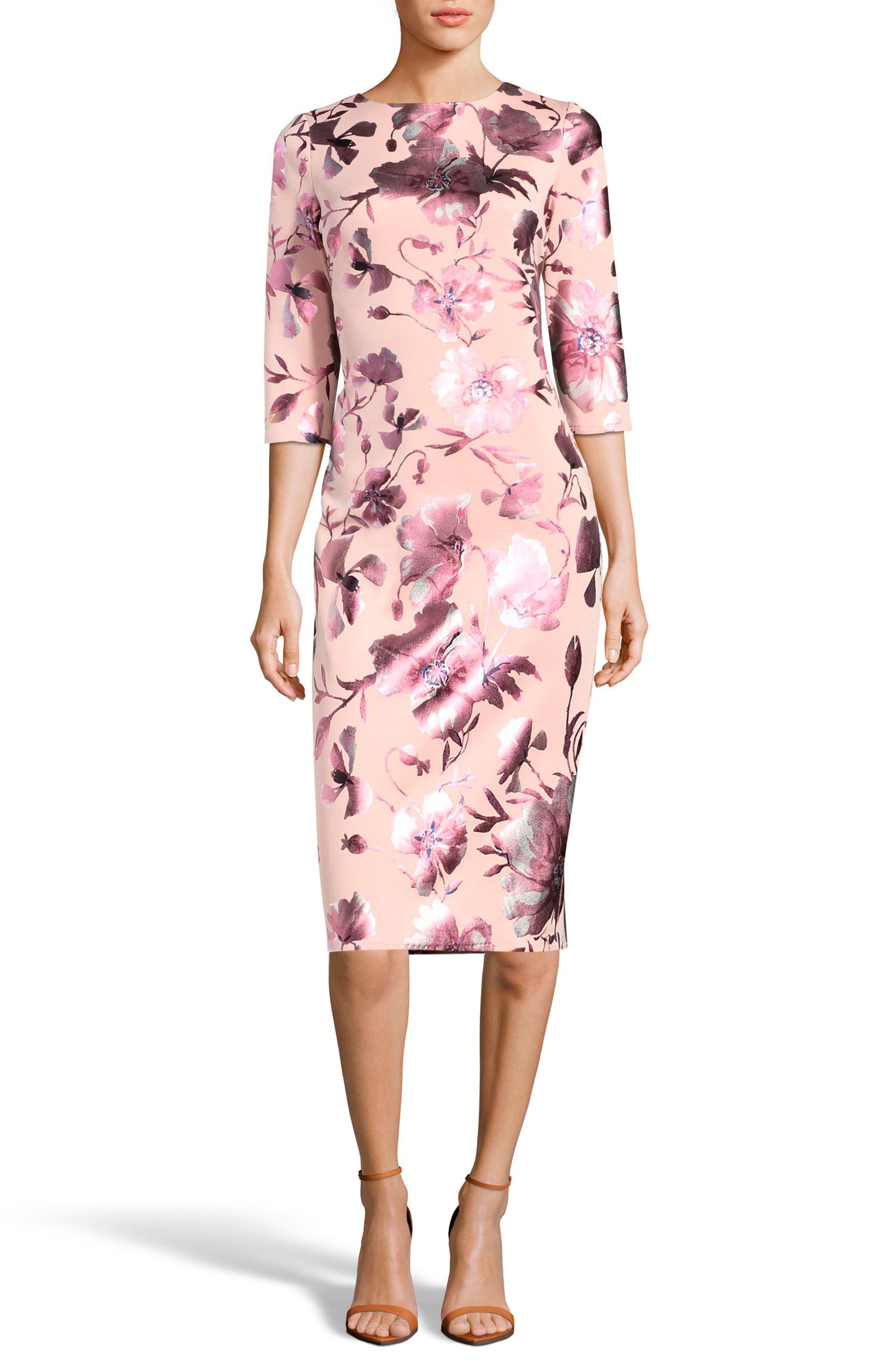 Main Image - ECI Floral Midi Dress