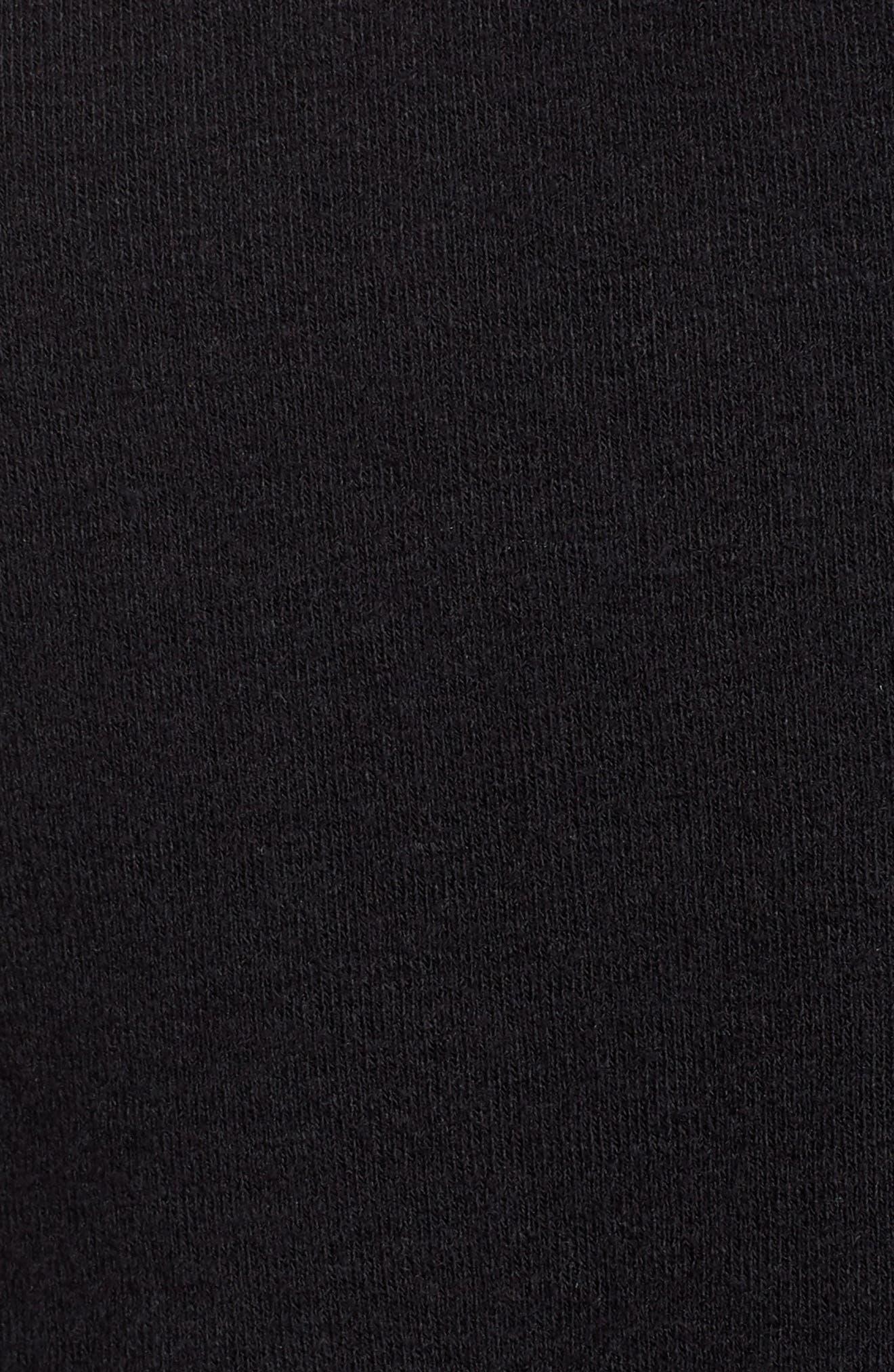 Cotton & Wool Zip Hoodie,                             Alternate thumbnail 5, color,                             Black Black
