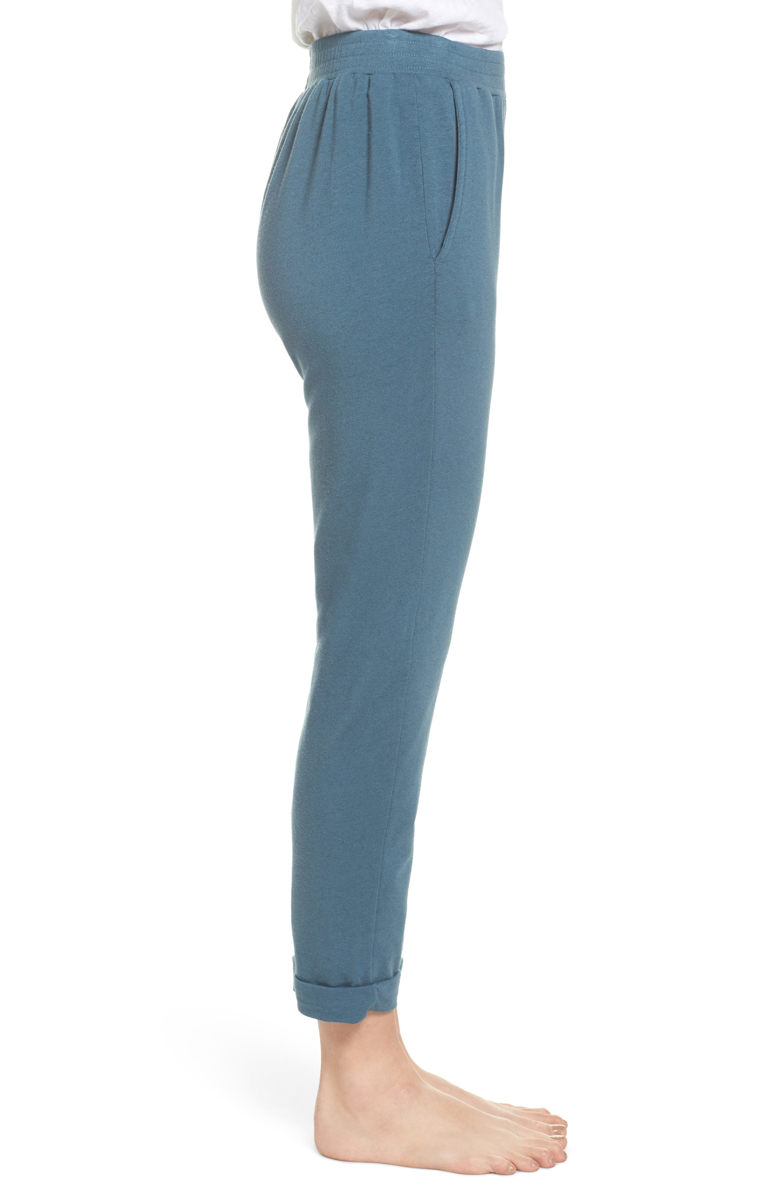 French Terry Sweatpants,                             Alternate thumbnail 3, color,                             Royal Teal