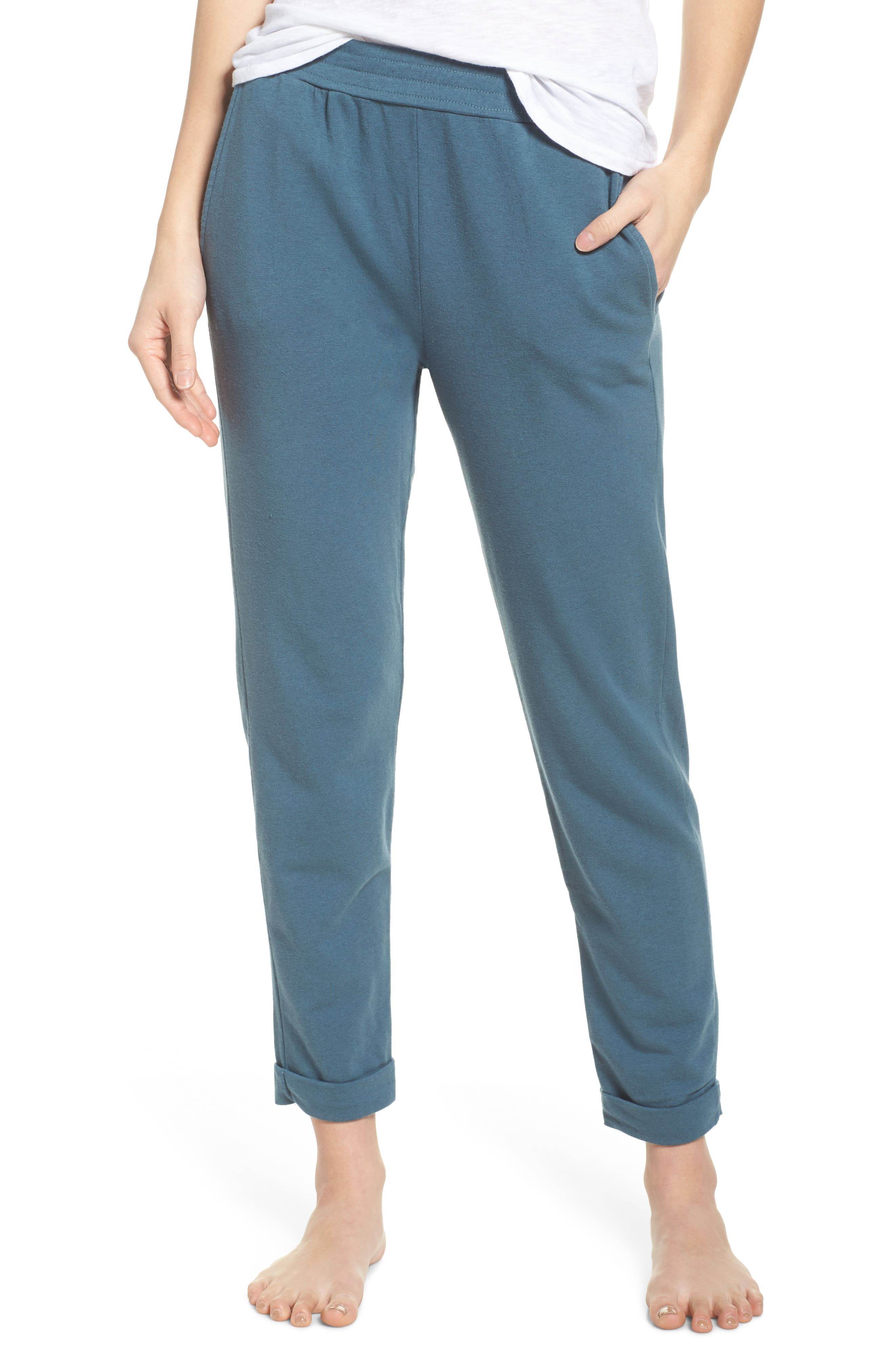 French Terry Sweatpants,                         Main,                         color, Royal Teal
