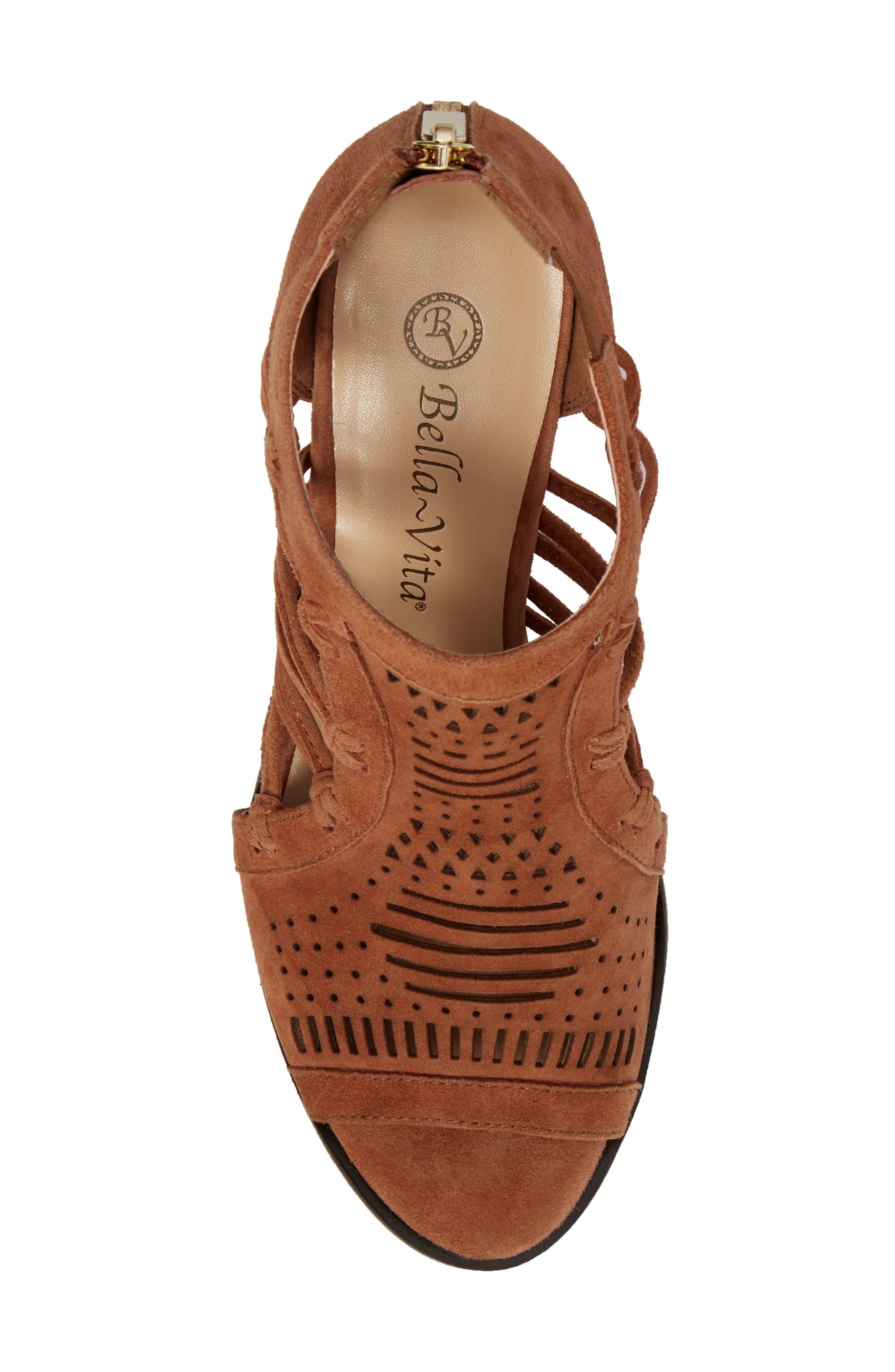 Kortez Block Heel Sandal,                             Alternate thumbnail 5, color,                             Dark Tan Suede