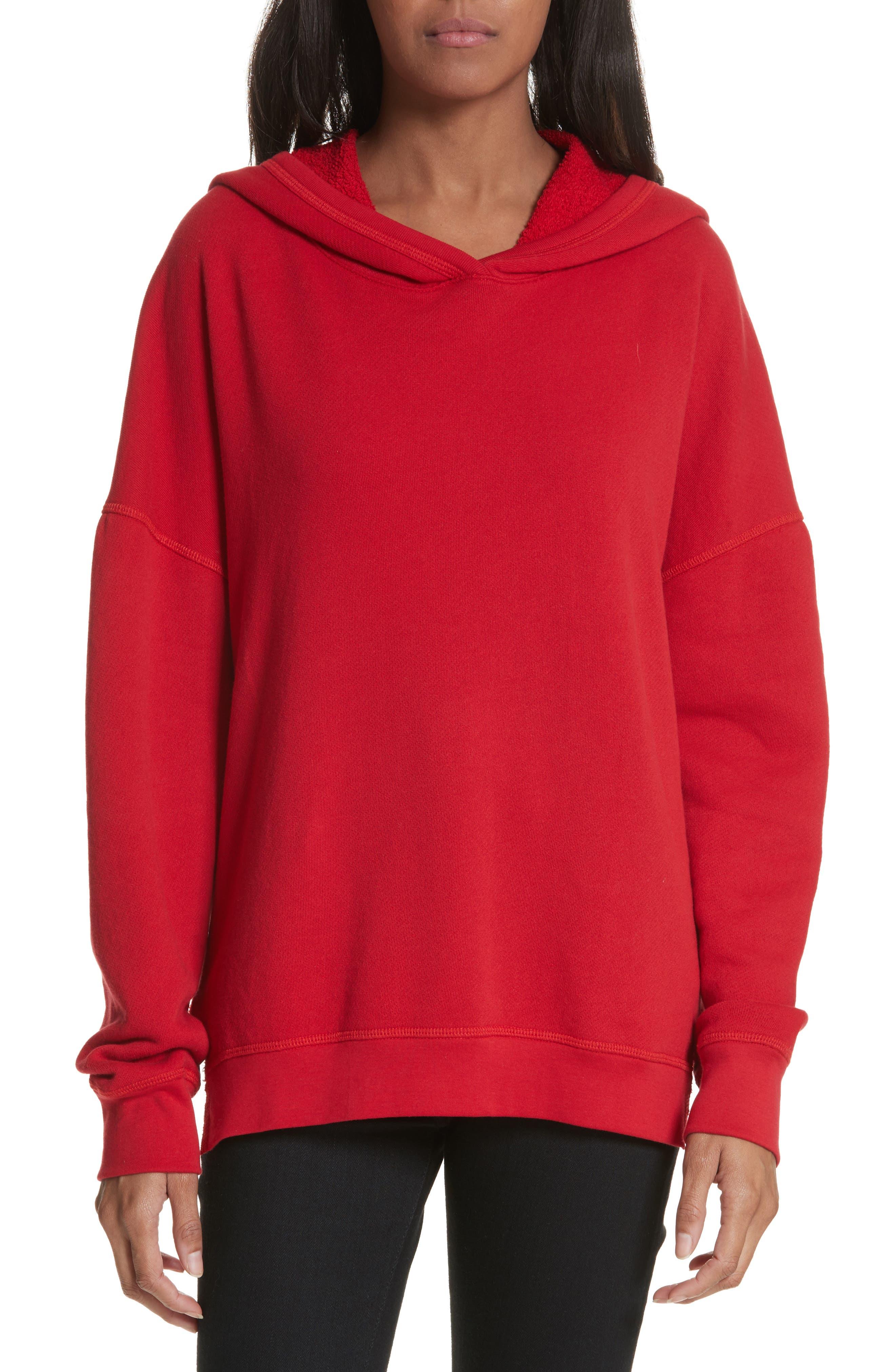 Adene Hooded Sweatshirt,                         Main,                         color, Matador Red