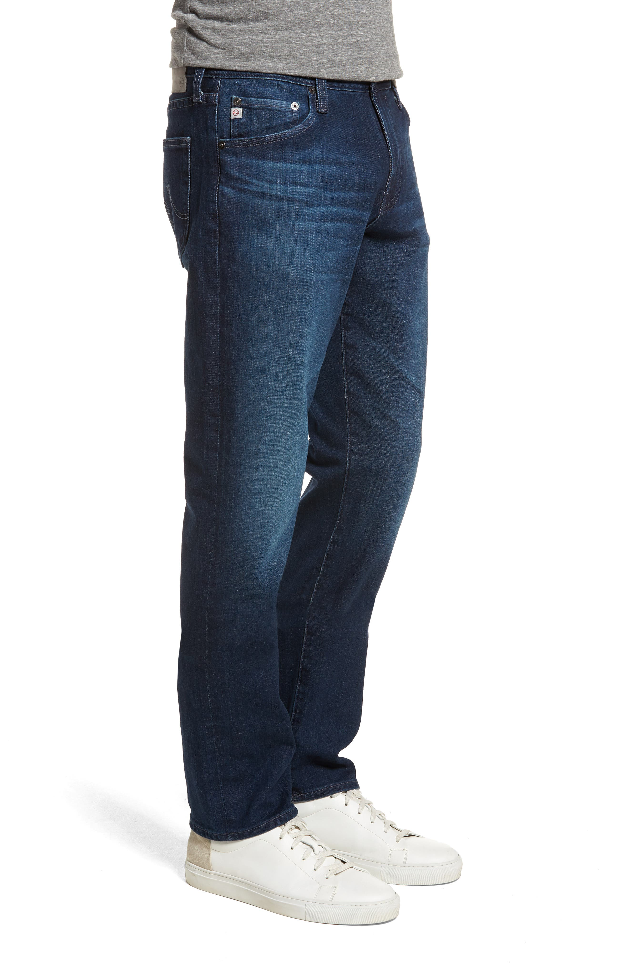 Everett Slim Straight Leg Jeans,                             Alternate thumbnail 3, color,                             Cross Creek