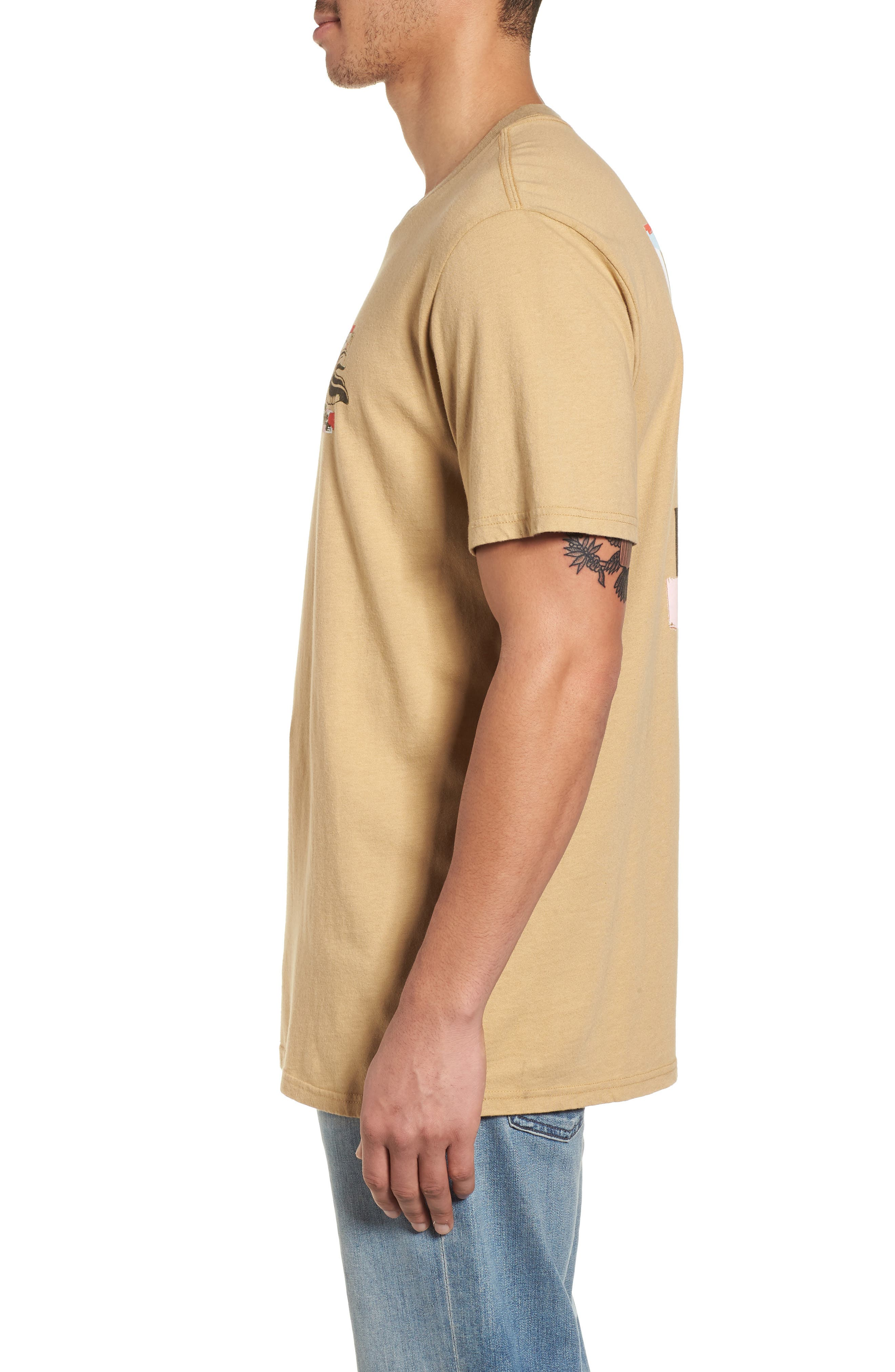 x Warhol Eighty Graphic T-Shirt,                             Alternate thumbnail 3, color,                             Straw