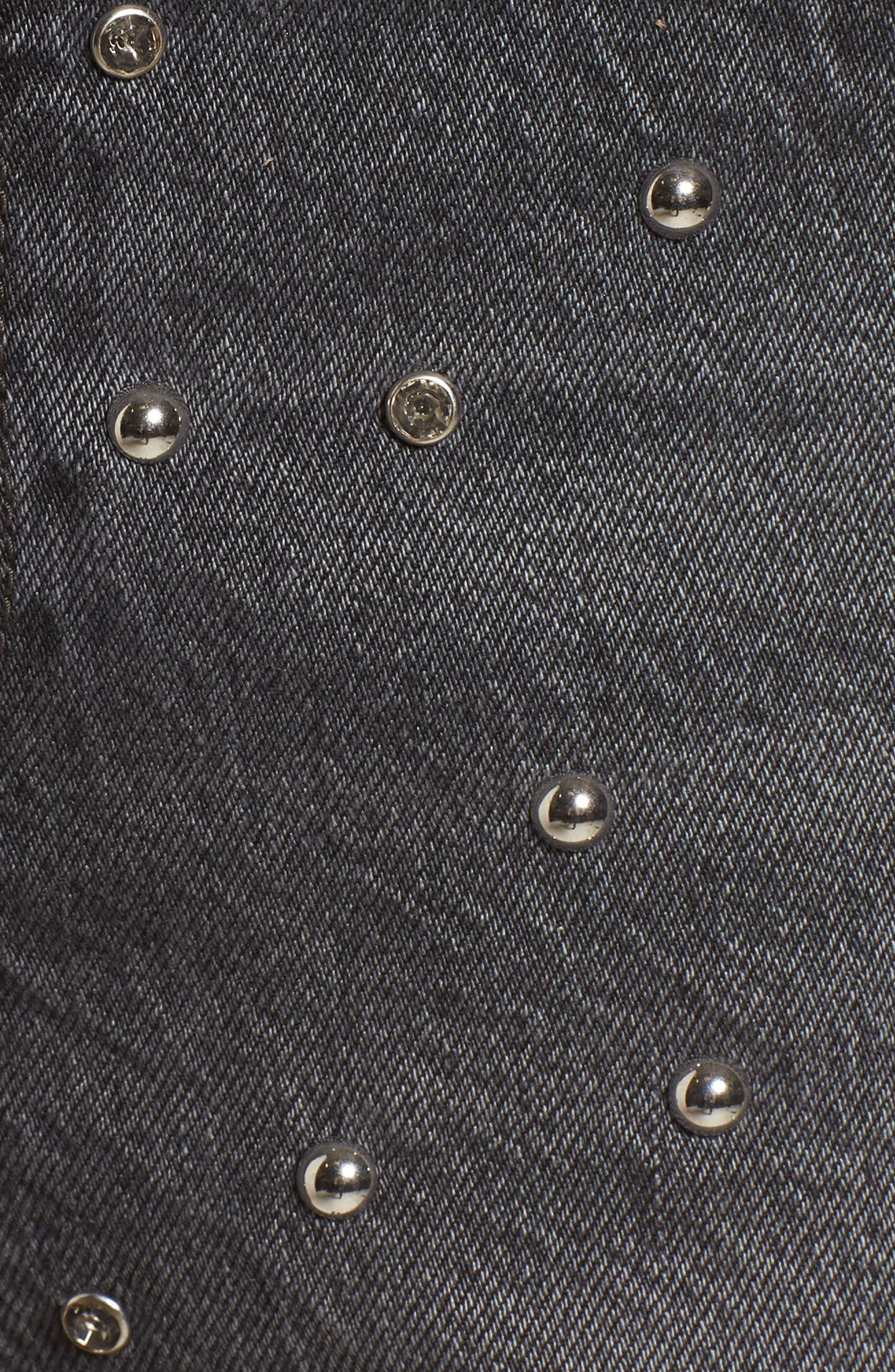 Wedgie High Waist Cutoff Denim Shorts,                             Alternate thumbnail 5, color,                             Bling Bling