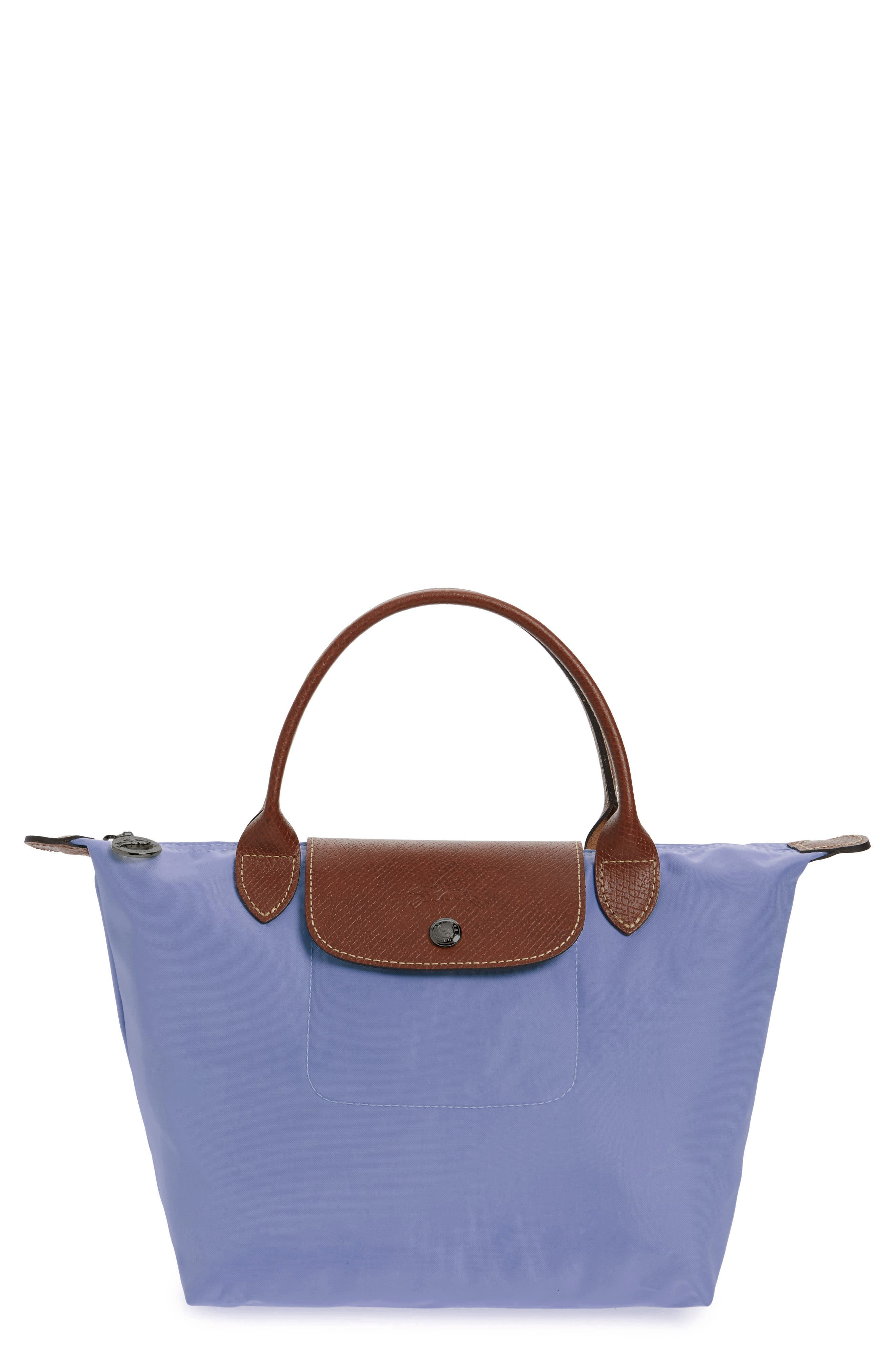 'Small Le Pliage' Top Handle Tote,                             Main thumbnail 1, color,                             Lavender