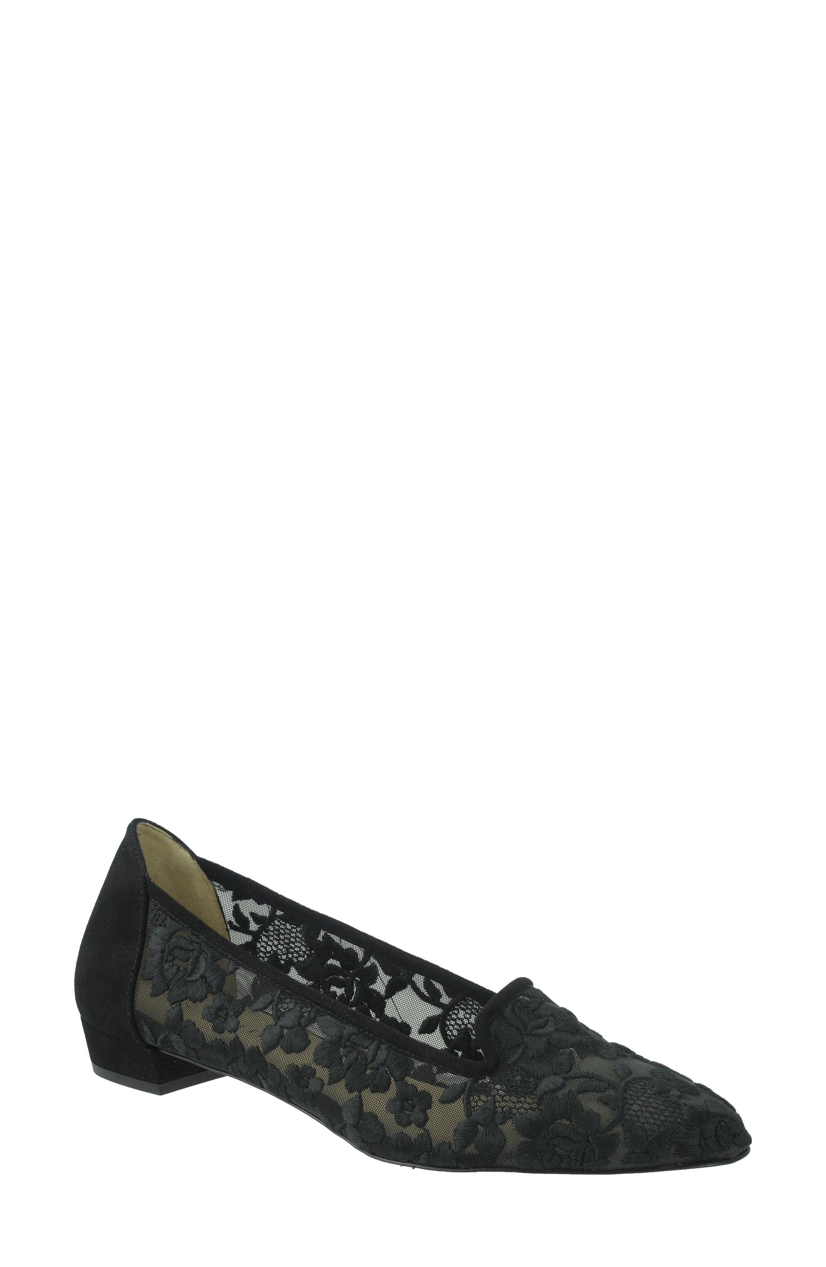 Helene Floral Pump,                         Main,                         color, Onyx Suede
