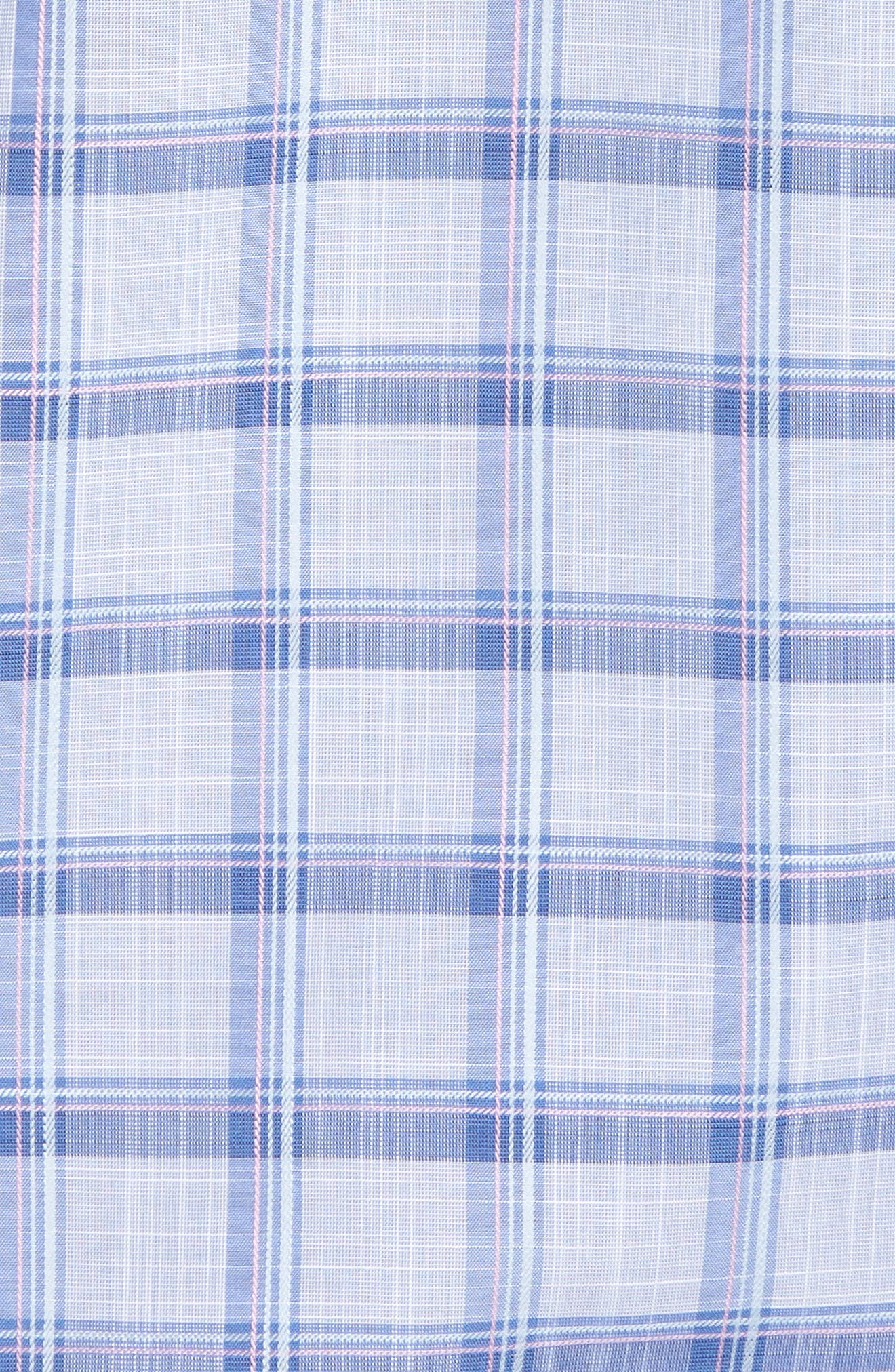 Banks Regular Fit Check Sport Shirt,                             Alternate thumbnail 5, color,                             Chambray