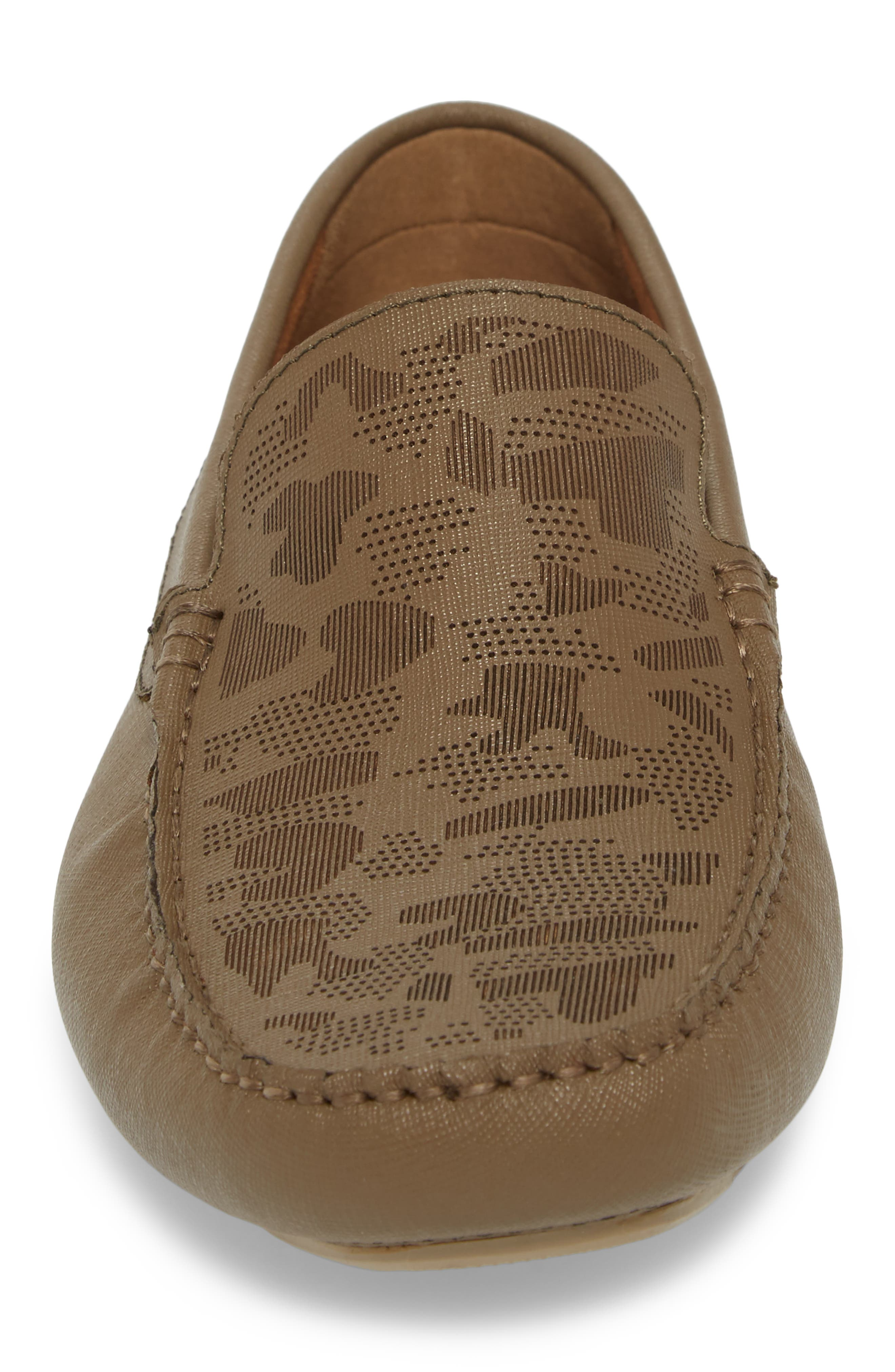 Theme Song Driving Shoe,                             Alternate thumbnail 4, color,                             Taupe Leather