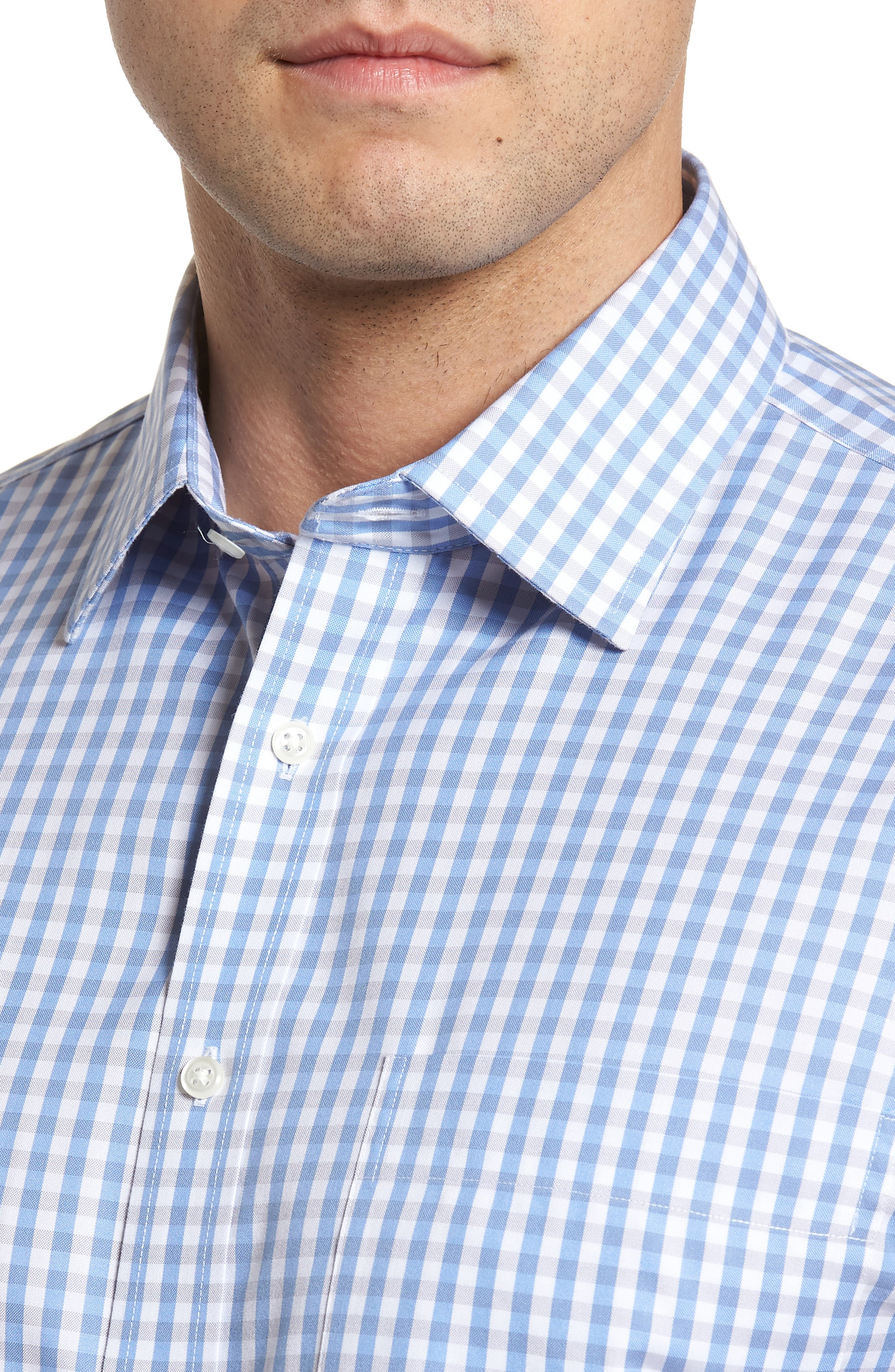 Smartcare<sup>™</sup> Classic Fit Check Dress Shirt,                             Alternate thumbnail 2, color,                             Grey Micro