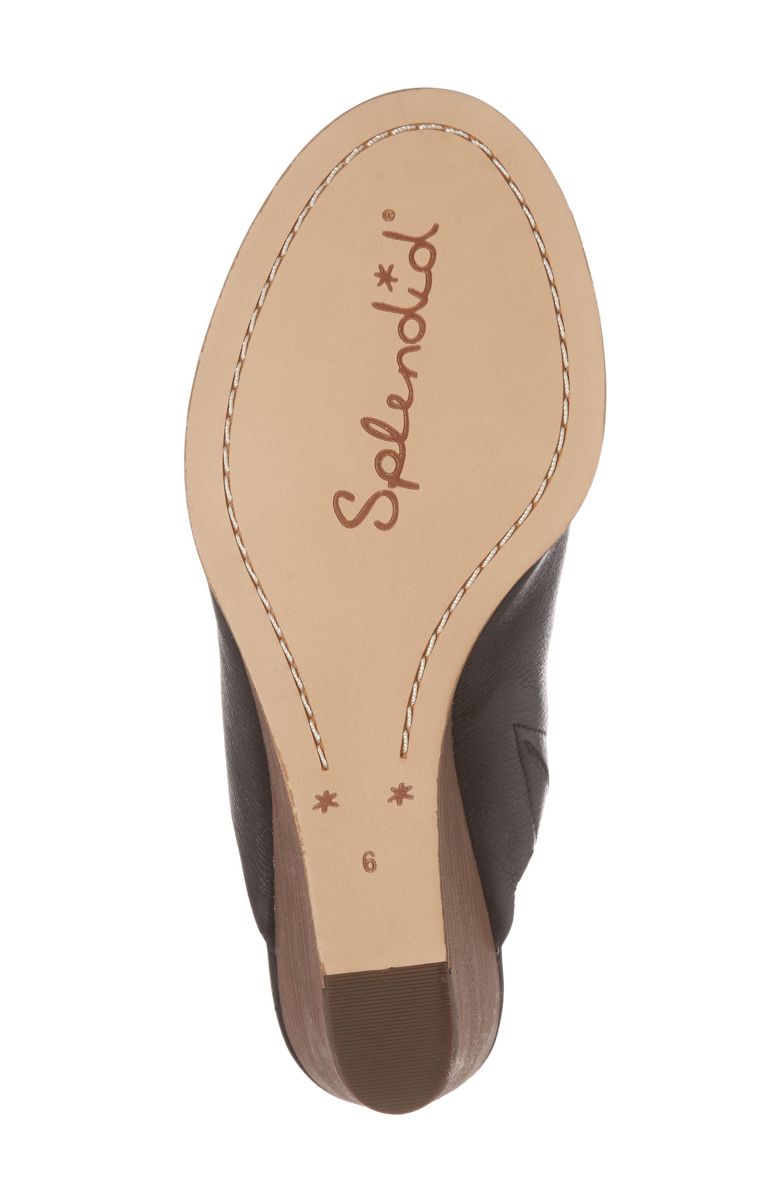 Fenwick Wedge Sandal,                             Alternate thumbnail 6, color,                             Black Leather