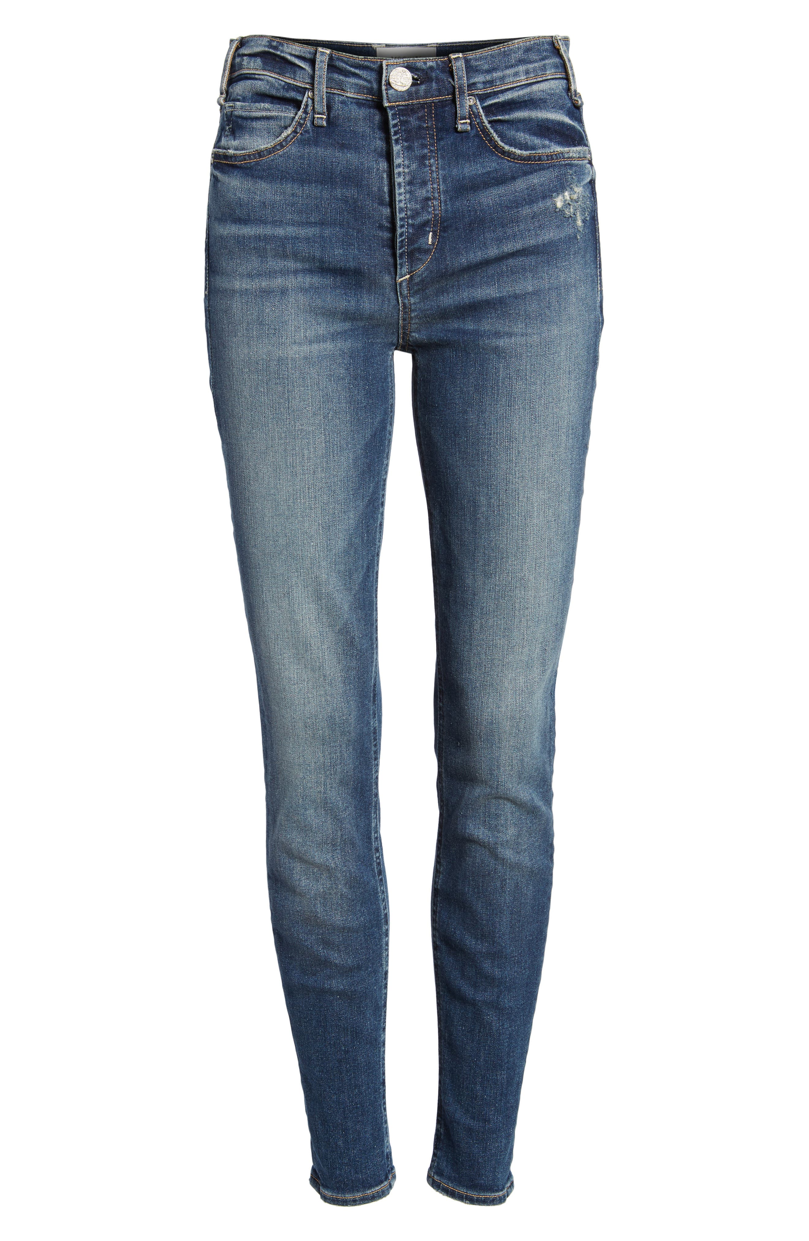 Newton High Rise Skinny Jeans,                             Alternate thumbnail 7, color,                             Sampaio