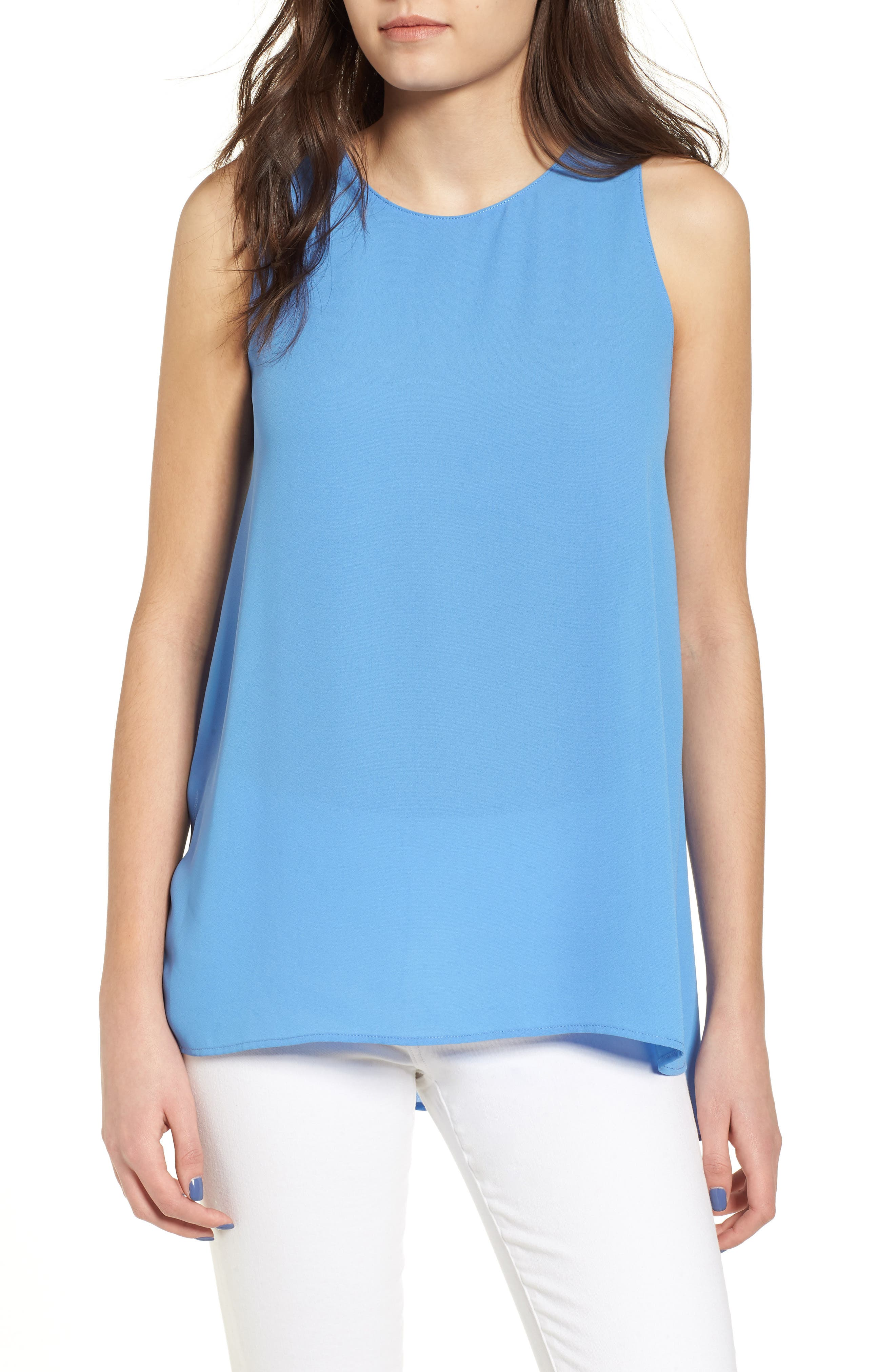 Side Slit Tank,                         Main,                         color, Sky Blue
