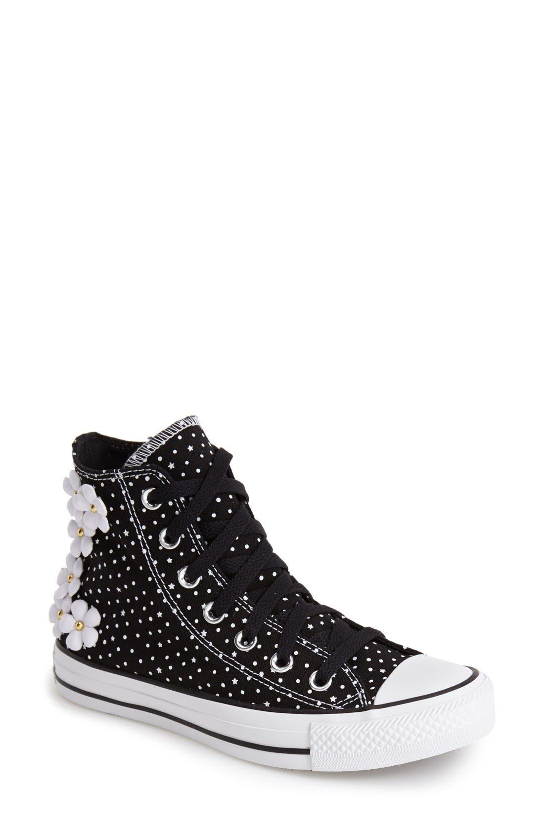 Main Image - Converse Chuck Taylor® All Star® 'Floral Polka Dot' High