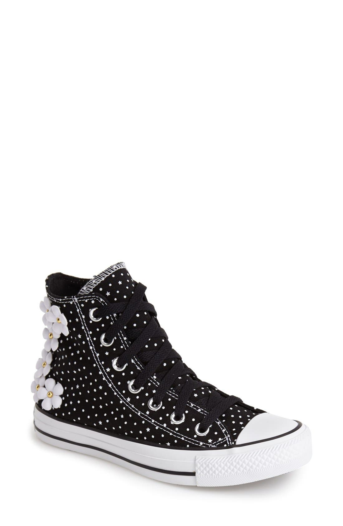 Alternate Image 1 Selected - Converse Chuck Taylor® All Star® 'Floral Polka Dot' High Top Sneaker (Women)