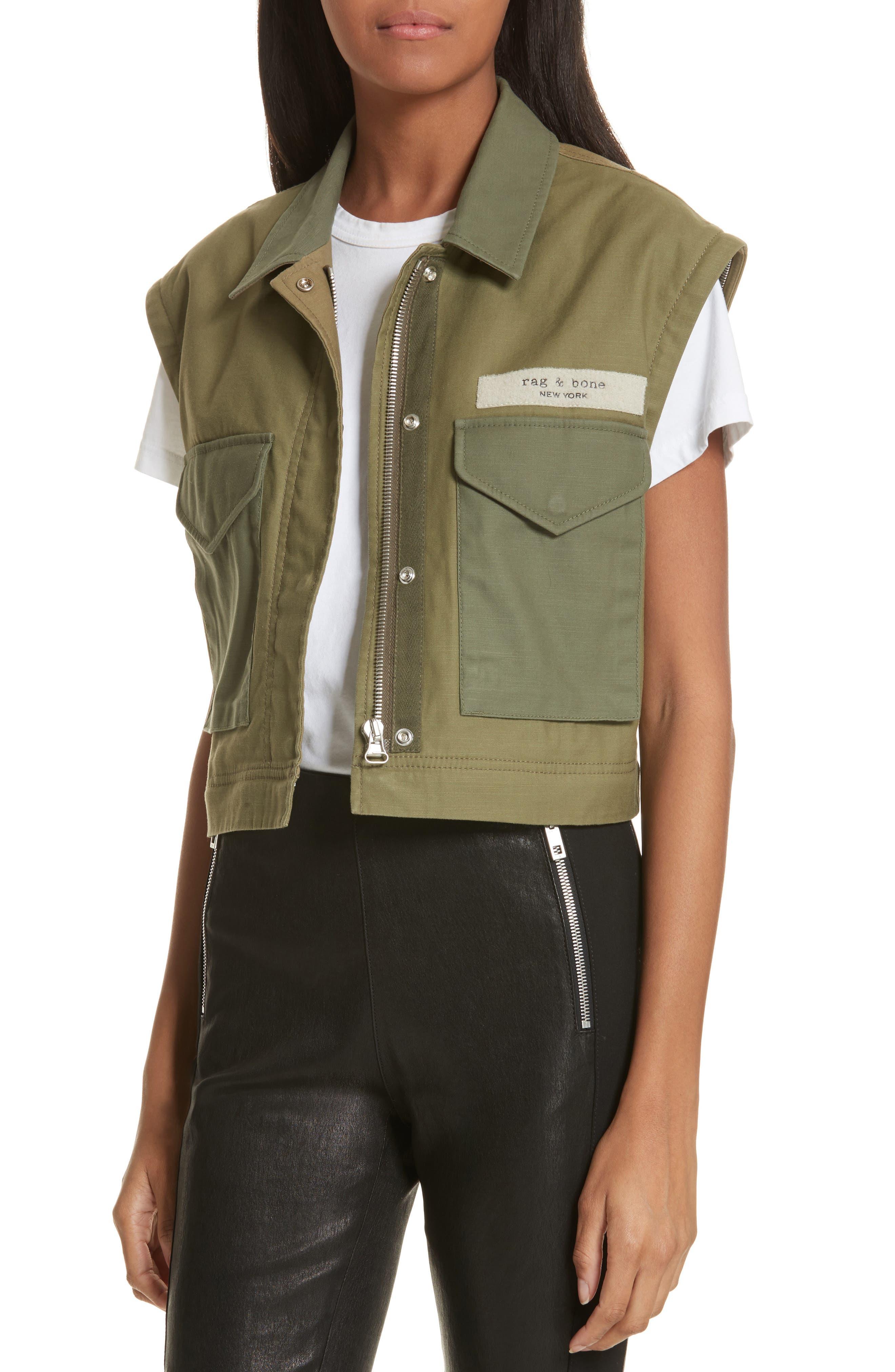 Modular Field Convertible Cotton Jacket,                             Alternate thumbnail 5, color,                             Dark Olive