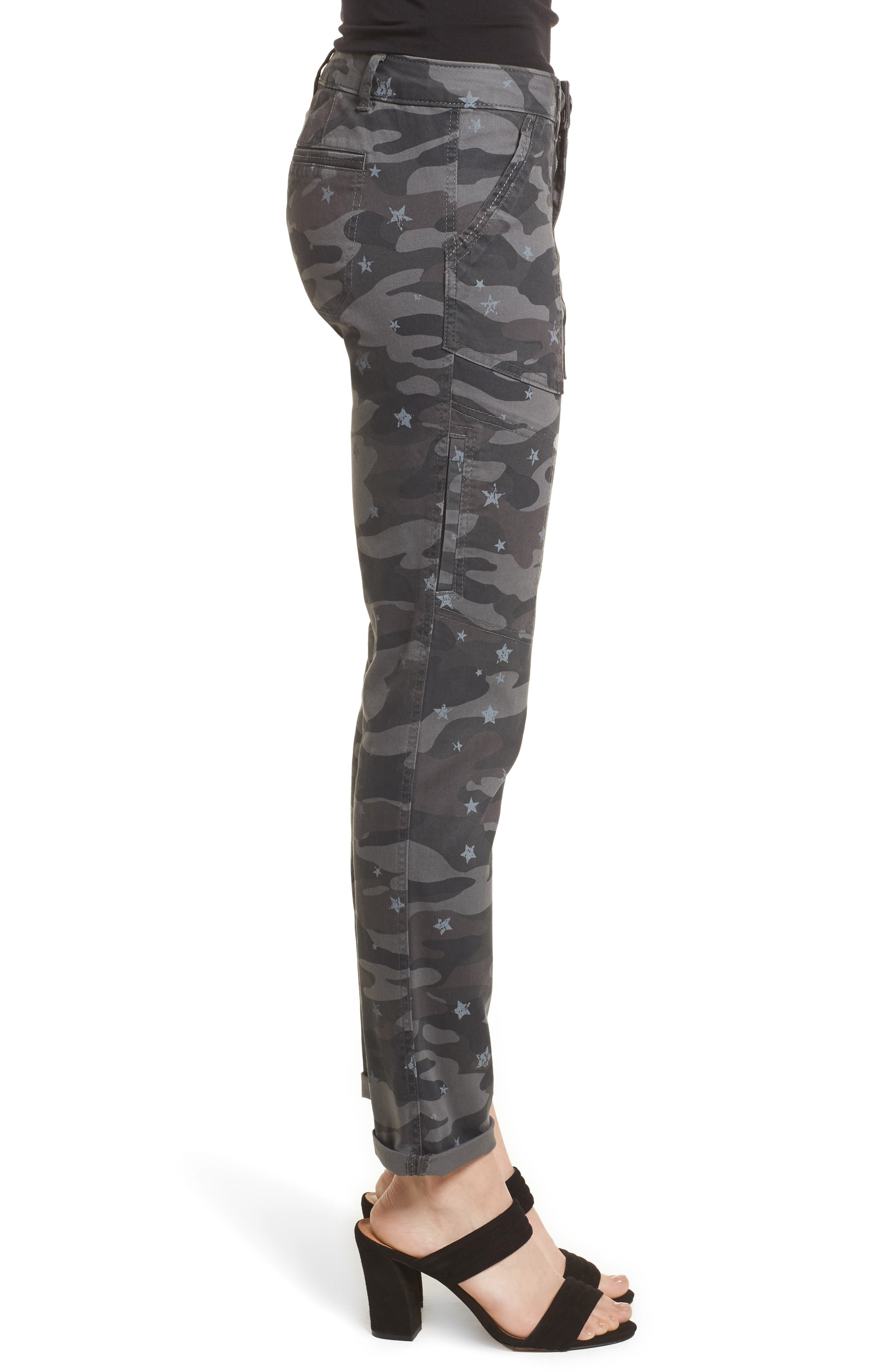 Twill Star Camo Cargo Pants,                             Alternate thumbnail 3, color,                             Cc- Charcoal