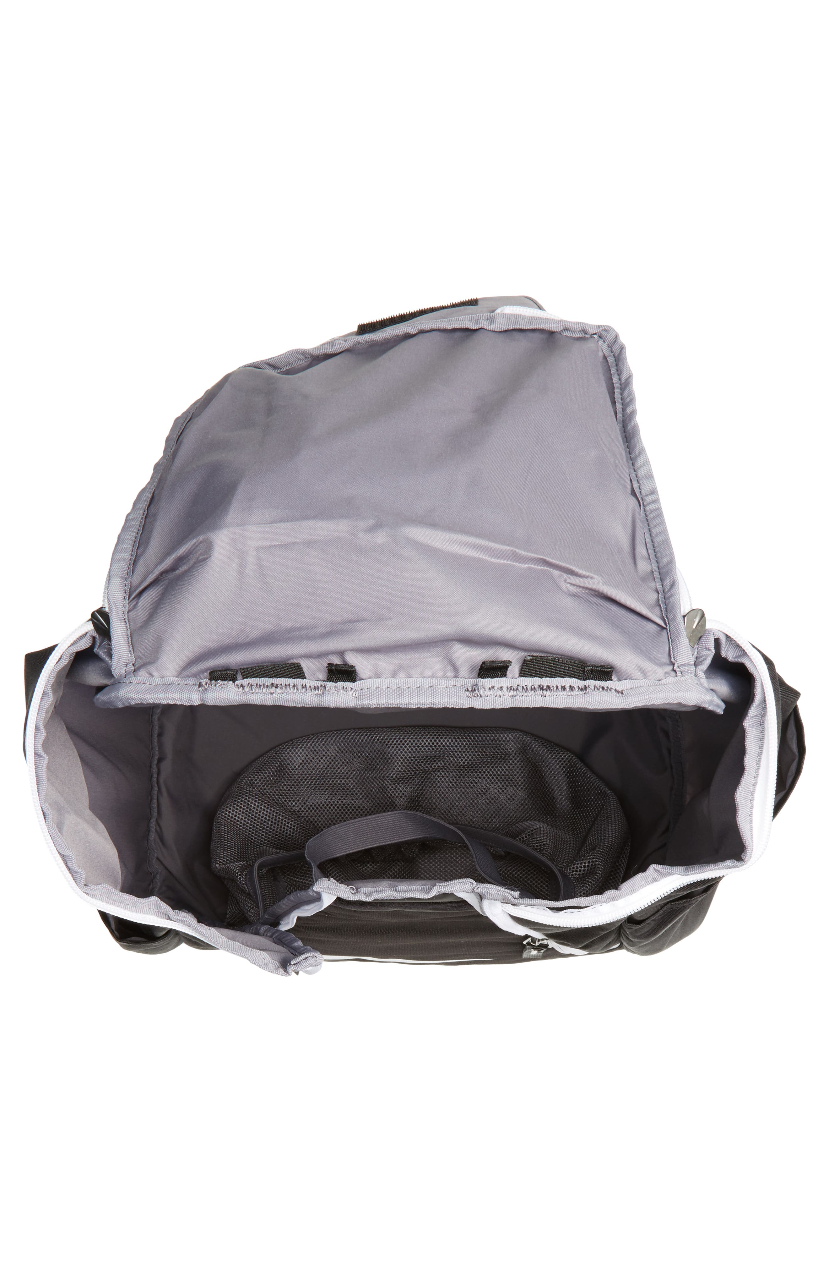 Hoops Elite Max Air Team Backpack,                             Alternate thumbnail 3, color,                             Black / White