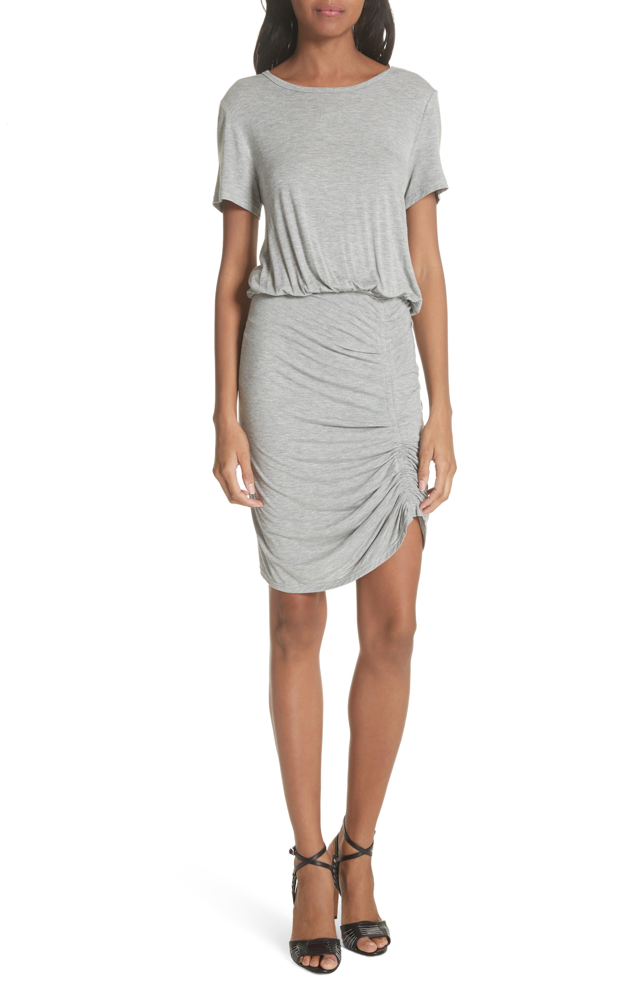Yari Blouson Dress,                         Main,                         color, Grey