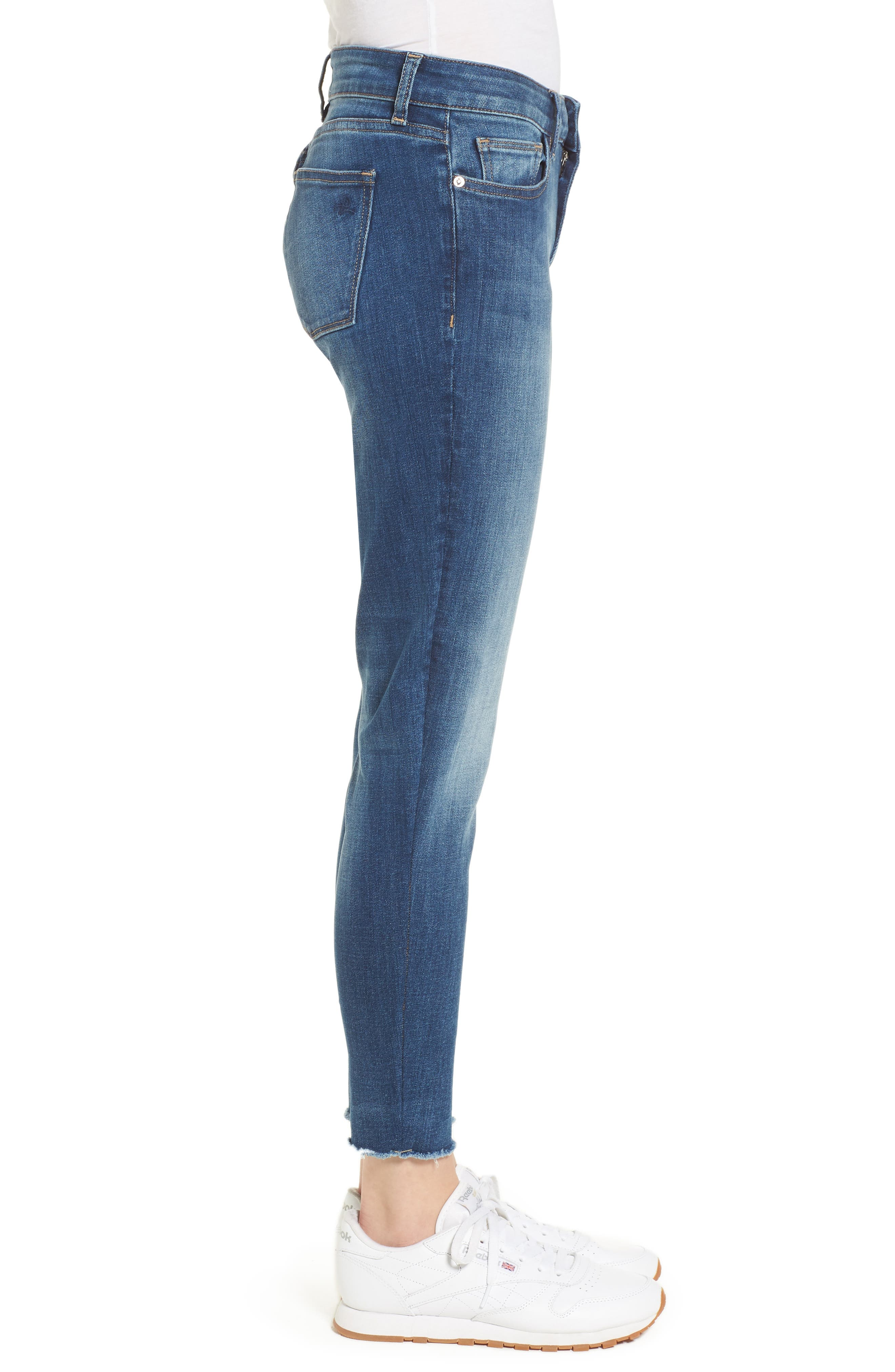 Coco Curvy Ankle Skinny Jeans,                             Alternate thumbnail 3, color,                             Callahan
