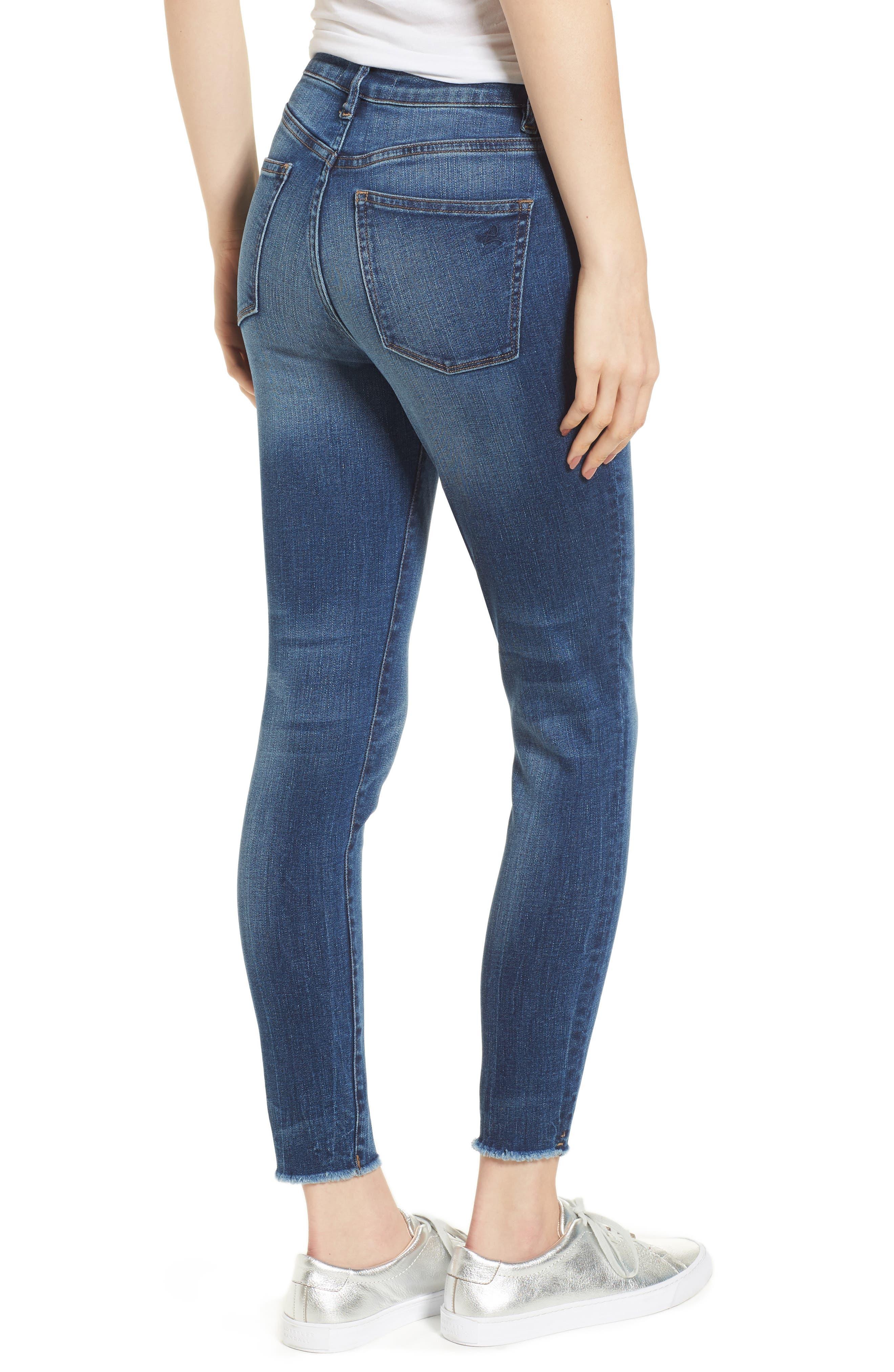 Chrissy Trimtone High Waist Skinny Jeans,                             Alternate thumbnail 2, color,                             Bal Harbour