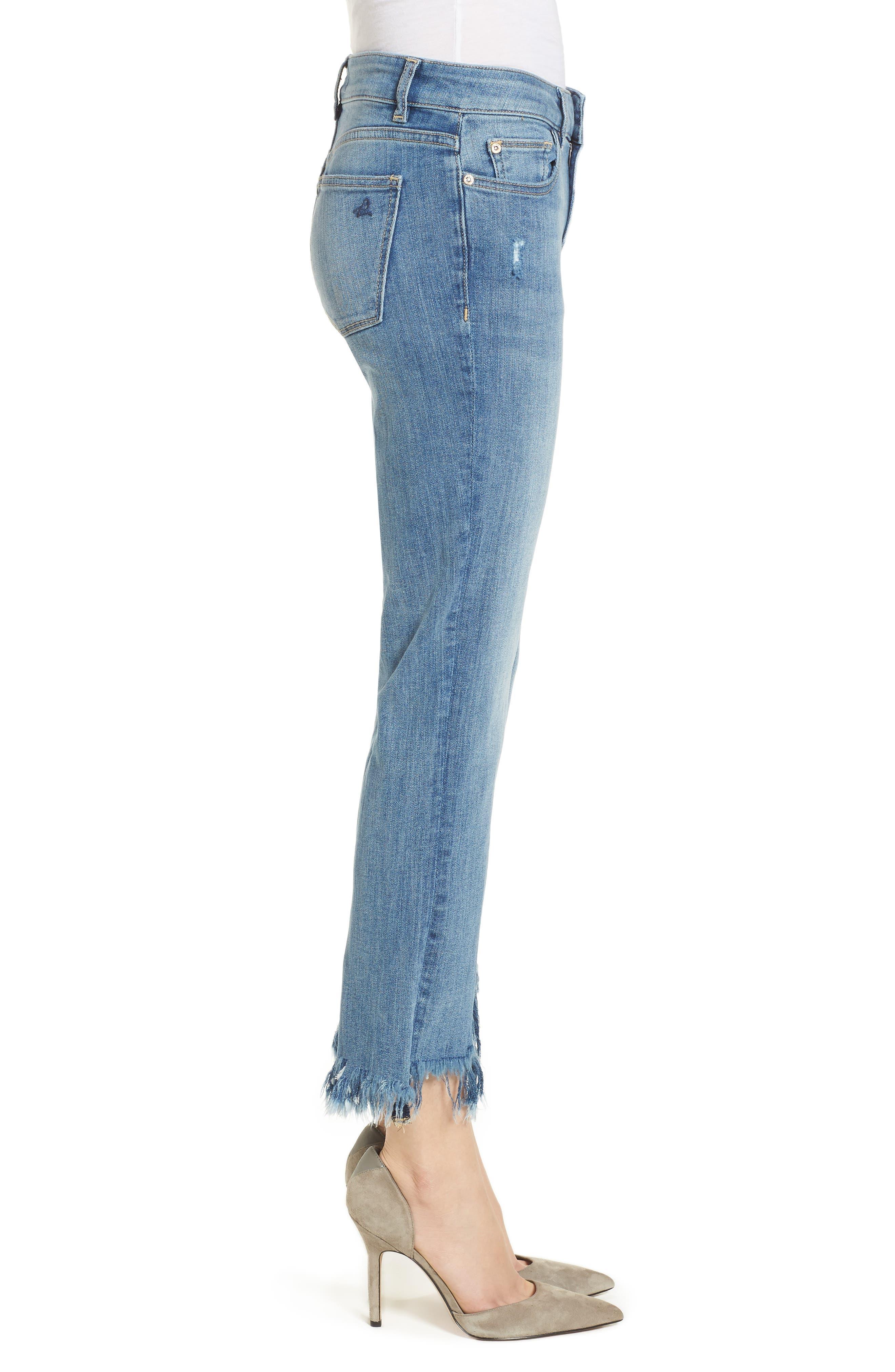 Mara Instasculpt Ankle Straight Leg Jeans,                             Alternate thumbnail 3, color,                             Upstate