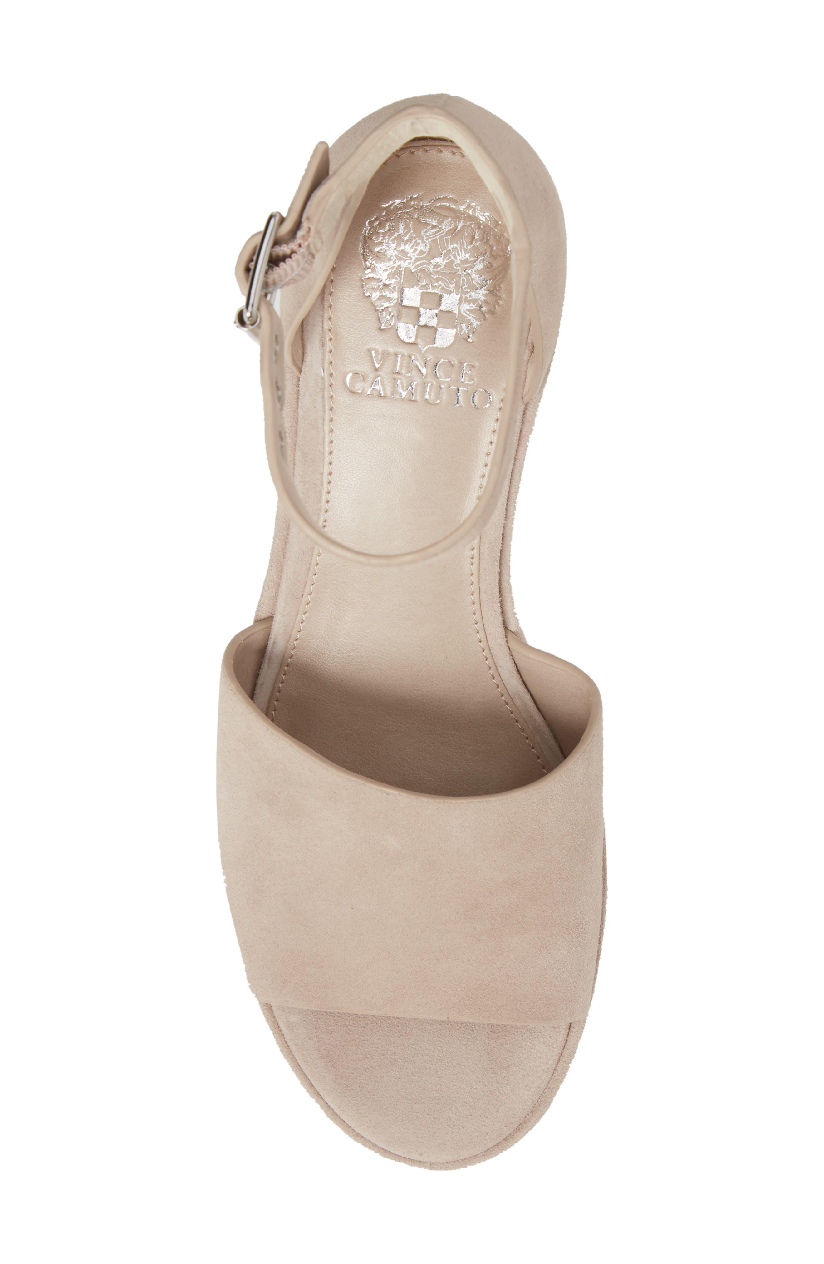 Korista Platform Sandal,                             Alternate thumbnail 5, color,                             Tipsy Taupe Suede