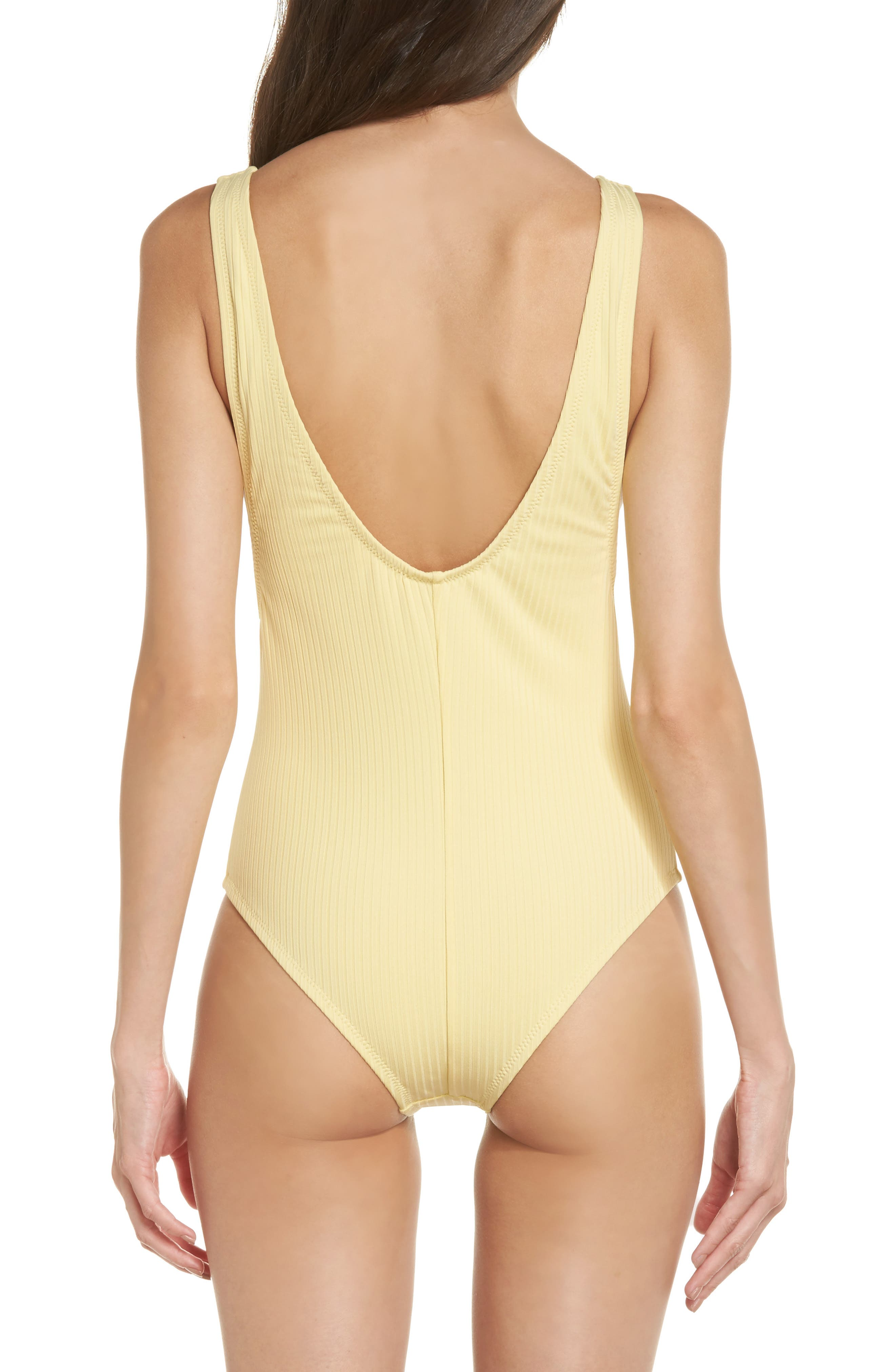 Vermont One-Piece Swimsuit,                             Alternate thumbnail 2, color,                             Soft Yellow
