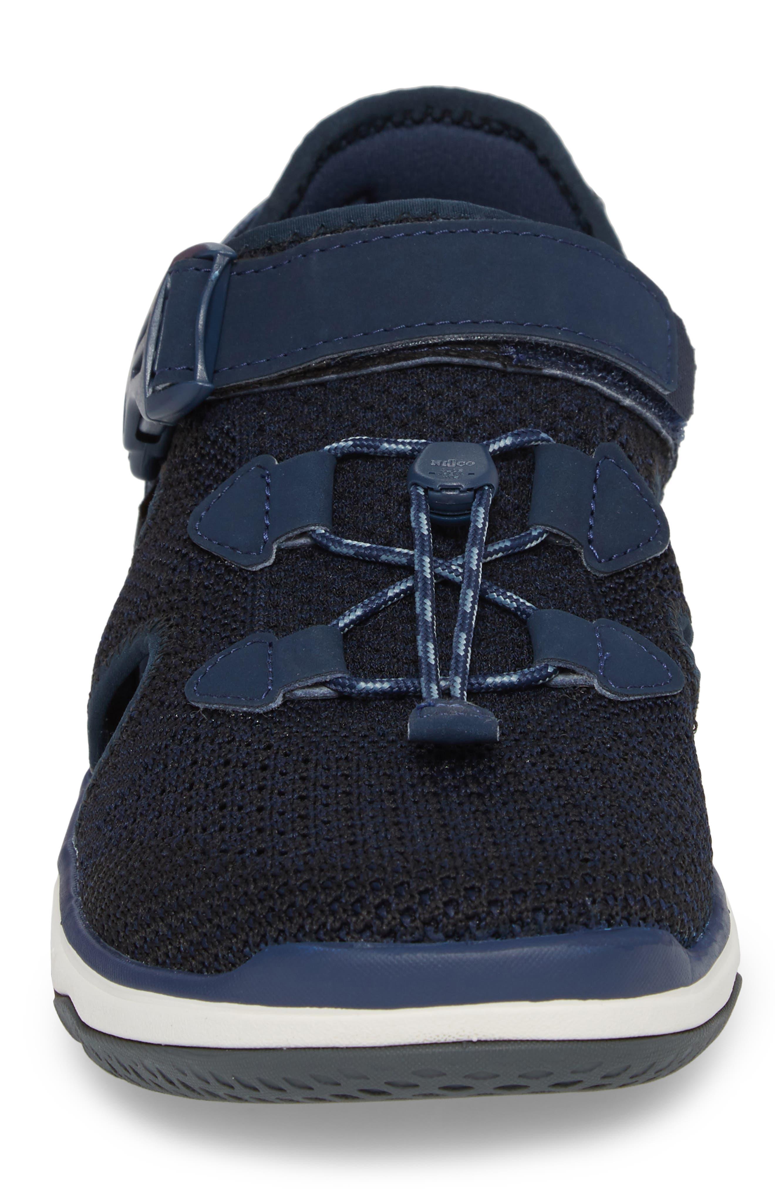 Terra Float Travel Sneaker,                             Alternate thumbnail 4, color,                             Navy Knit