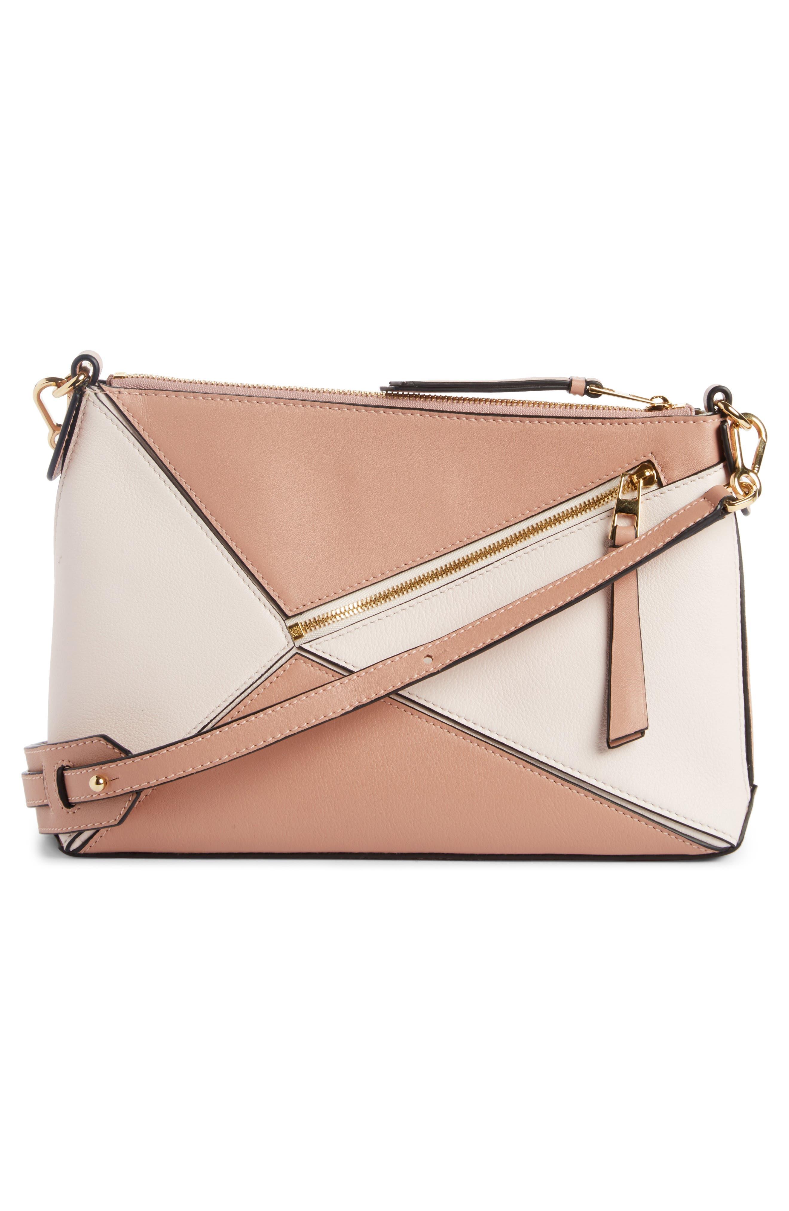 Mini Puzzle Leather Crossbody Bag,                             Alternate thumbnail 2, color,                             Blush Multitone