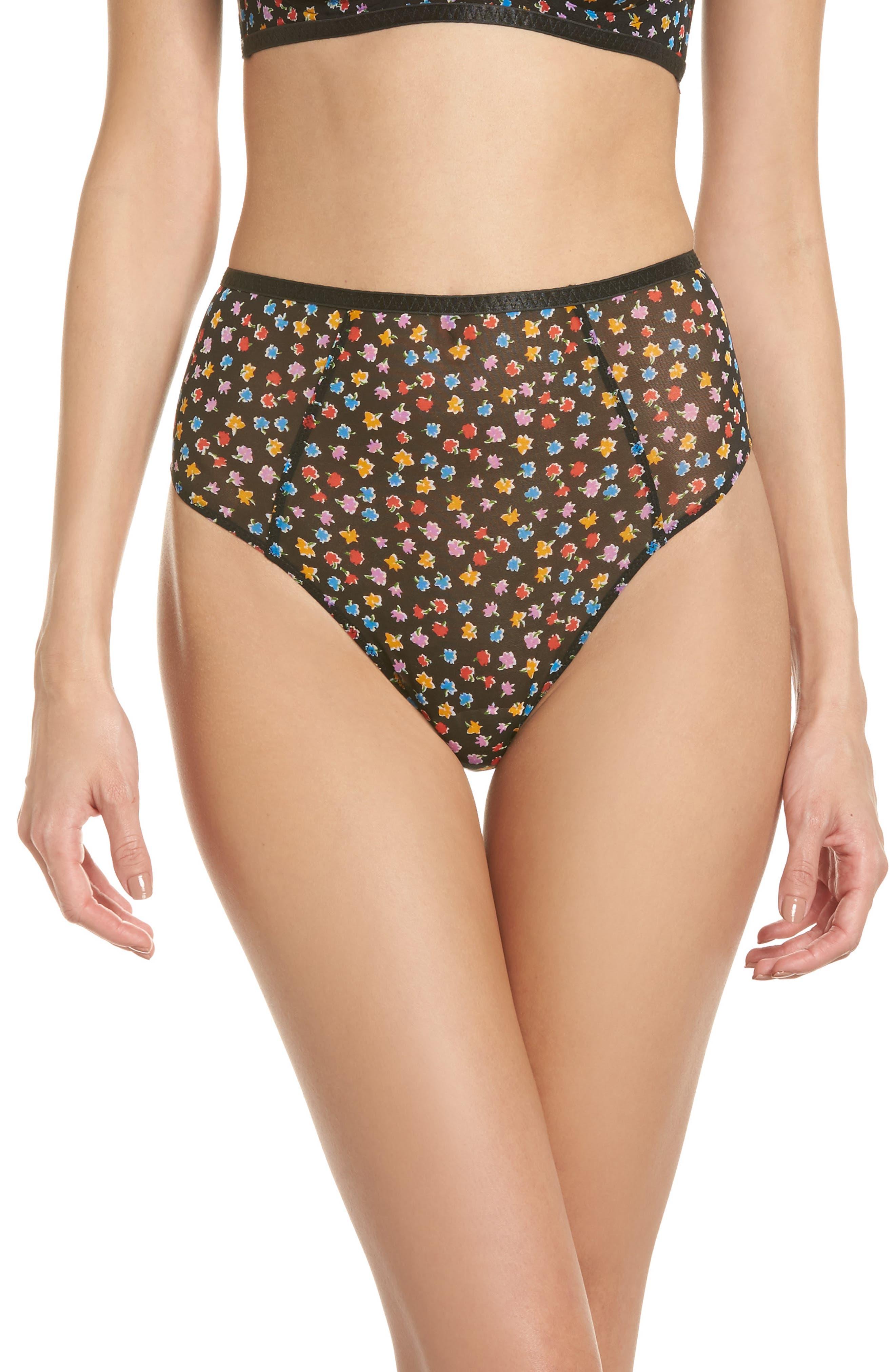 Intimately FP Capri High Waist Panties,                         Main,                         color, Black Combo