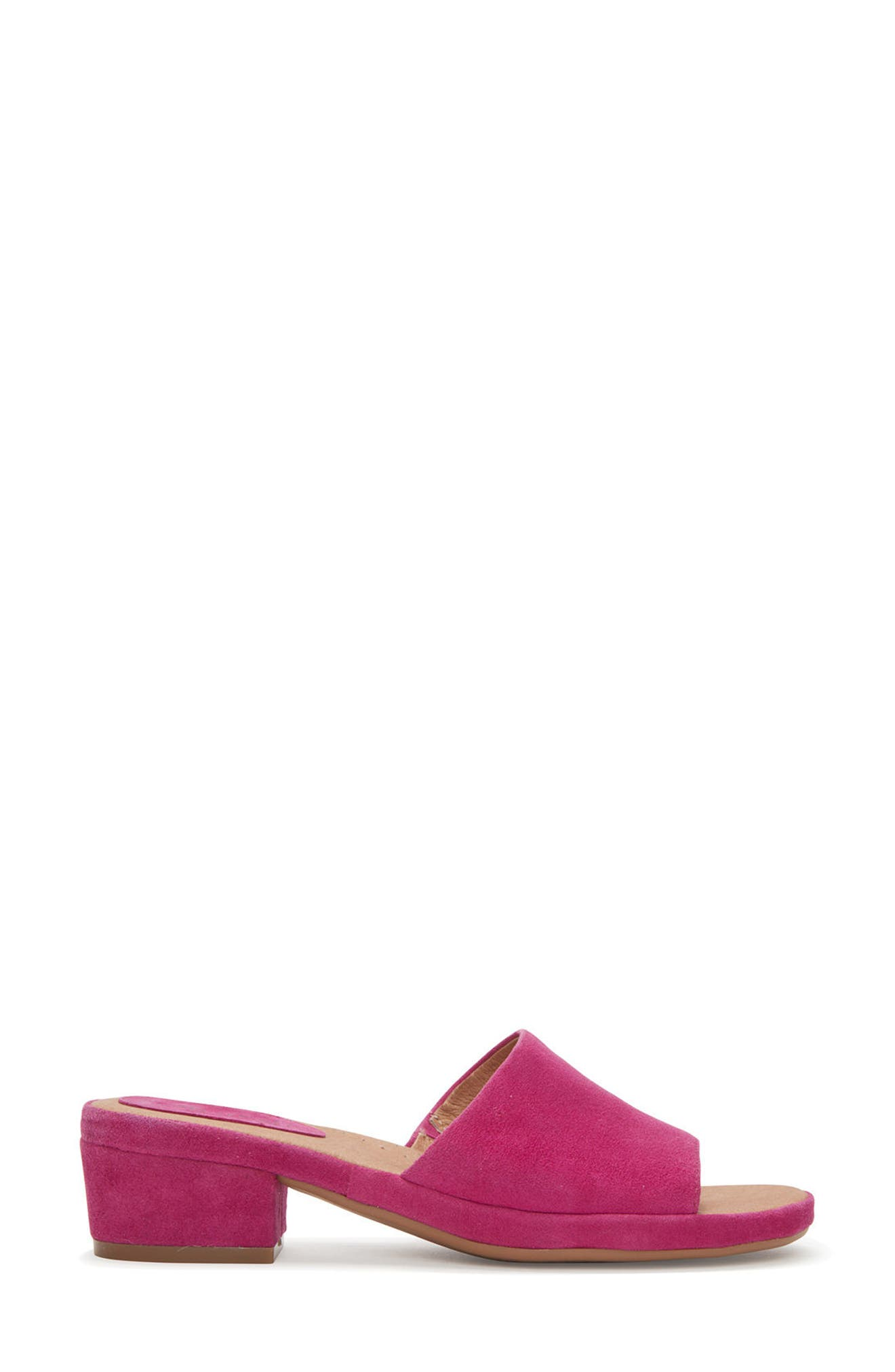 Adam Tucker Yolo Sandal,                             Alternate thumbnail 3, color,                             Fuchsia Suede